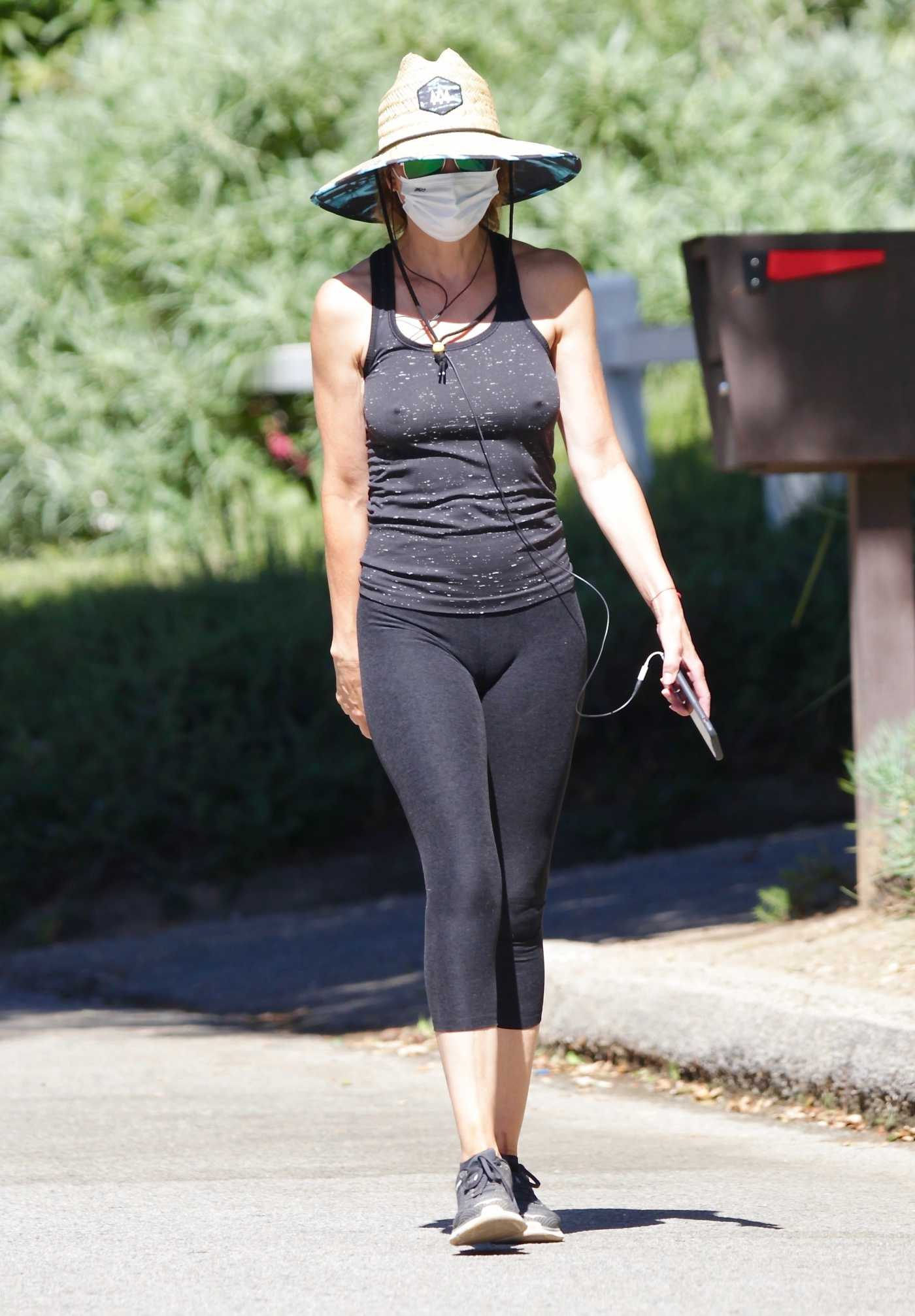 Lisa Rinna in a Black Leggings Was Seen Out in Studio City 08/08/2020