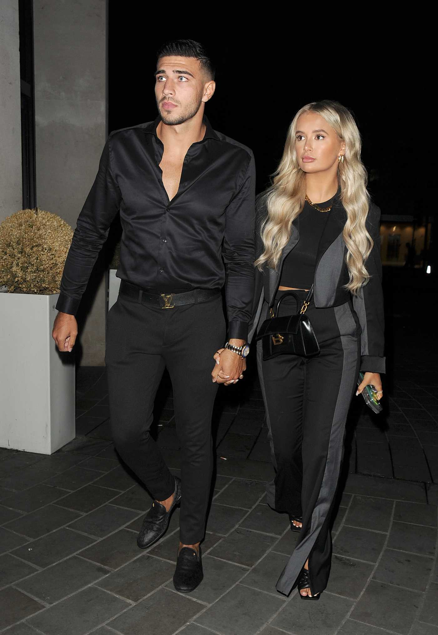 Molly-Mae Hague in a Black Top Out with Tommy Fury Arrives at STK Restaurant in London 08/29/2020