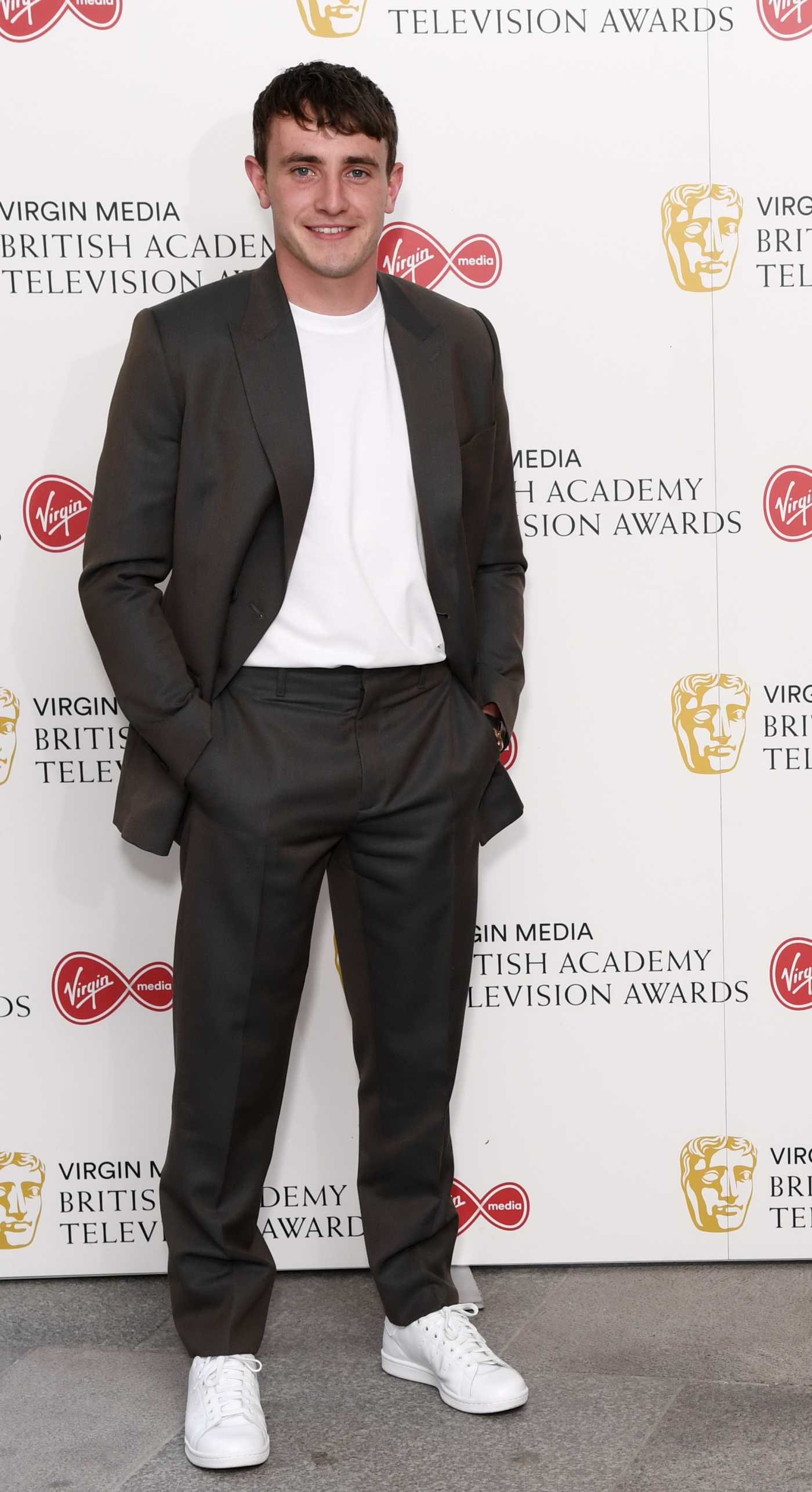 Paul Mescal Attends 2020 Virgin Media British Academy Television Awards in London 07/31/2020