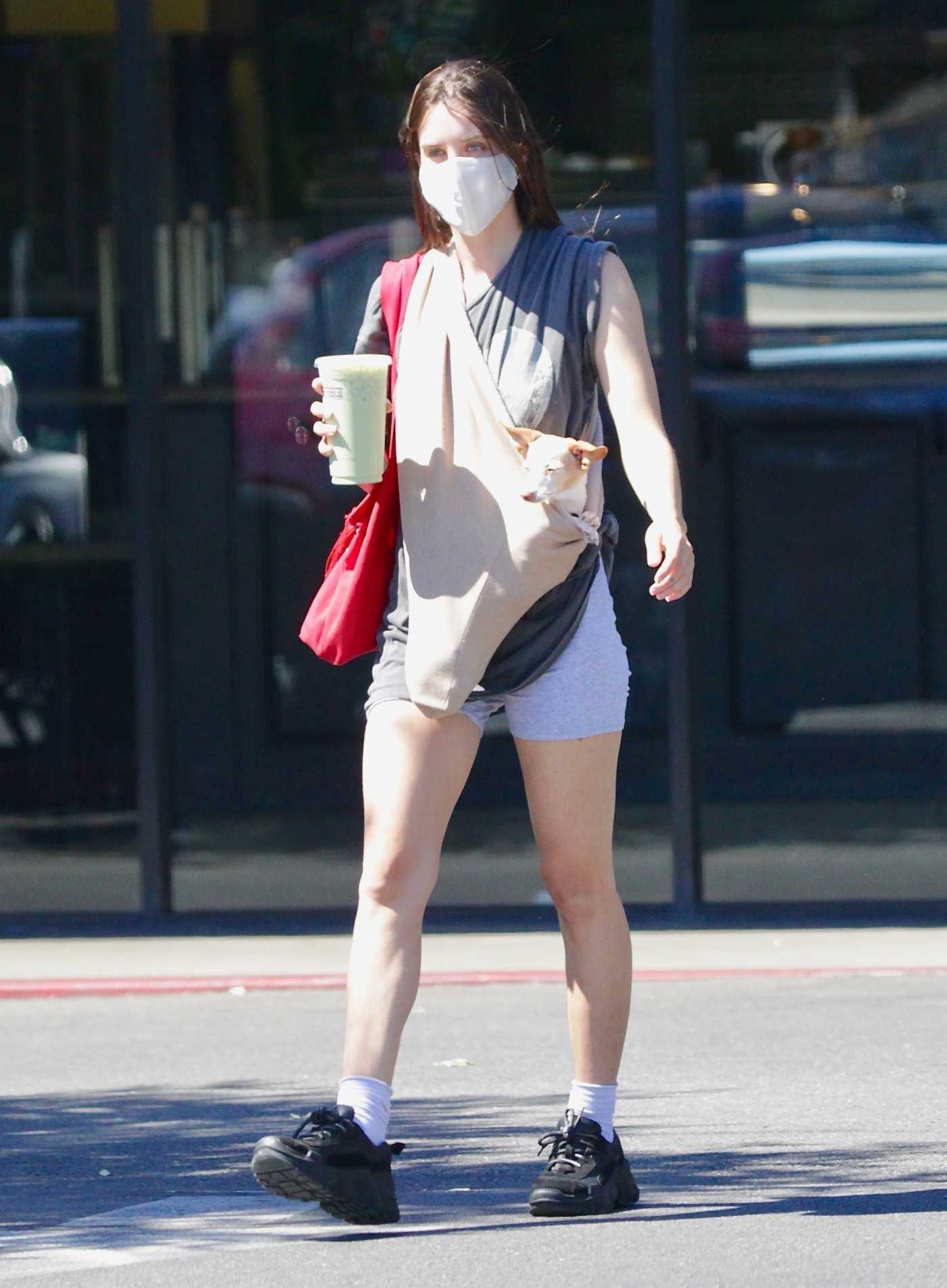Scout Willis in a Protective Mask Was Seen Out in Los Feliz 08/10/2020