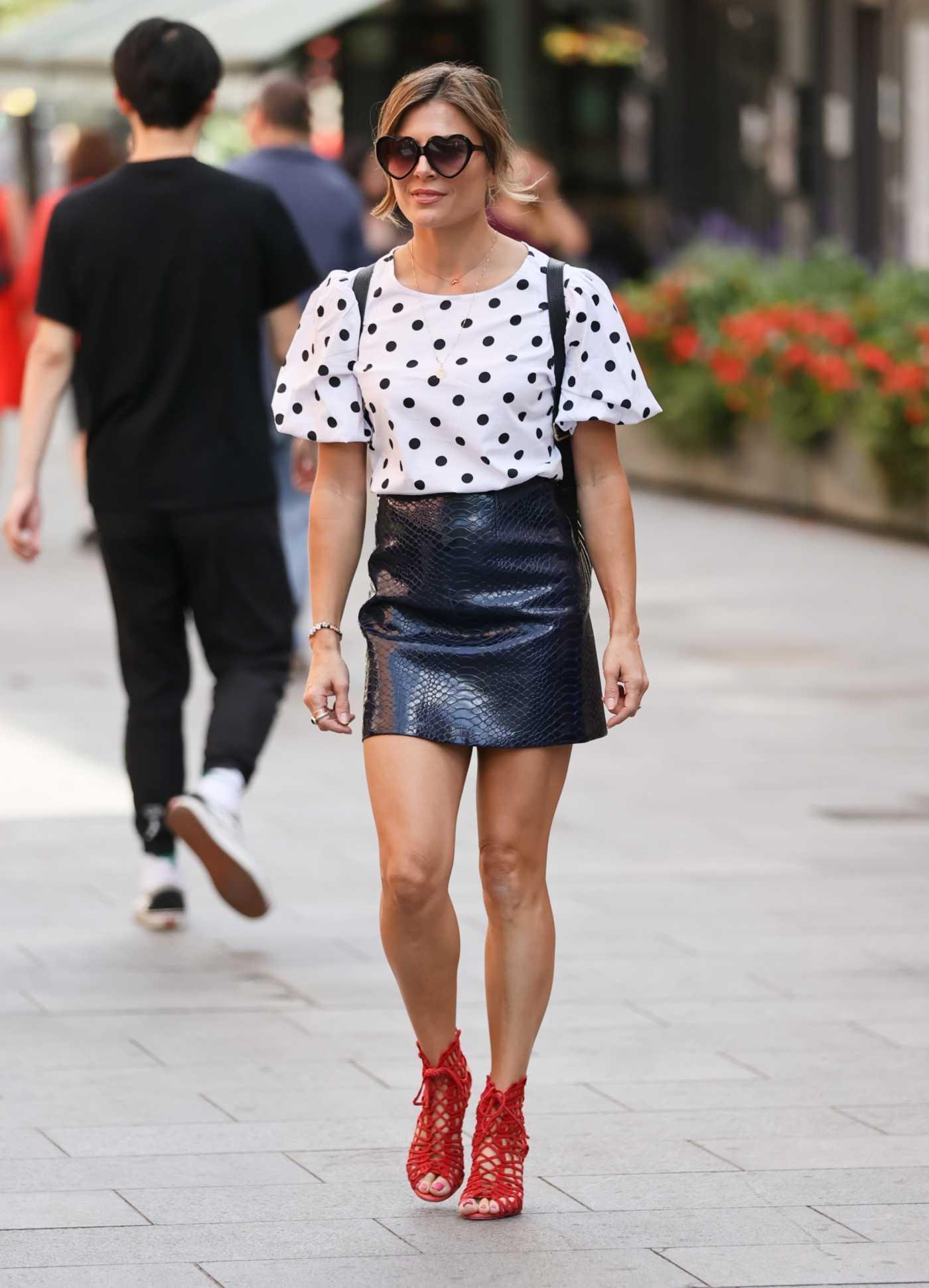 Zoe Hardman in a Black Vinyl Miniskirt Was Seen Out in London 08/05/2020