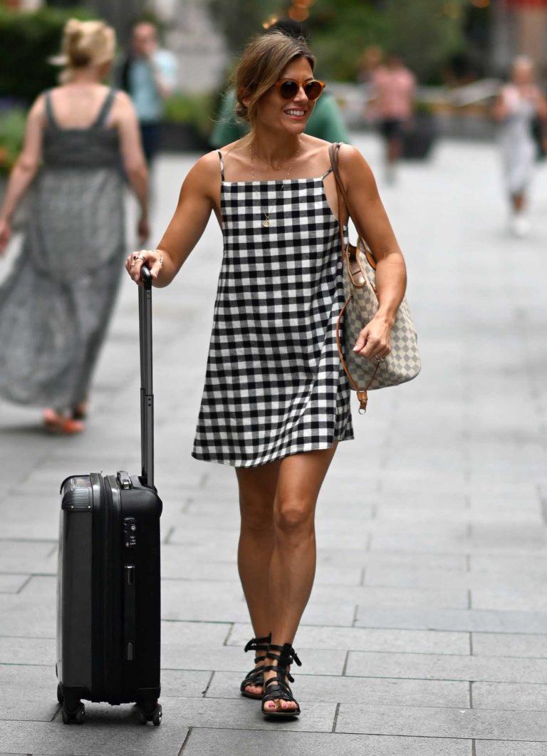 Zoe Hardman in a Checked Dress