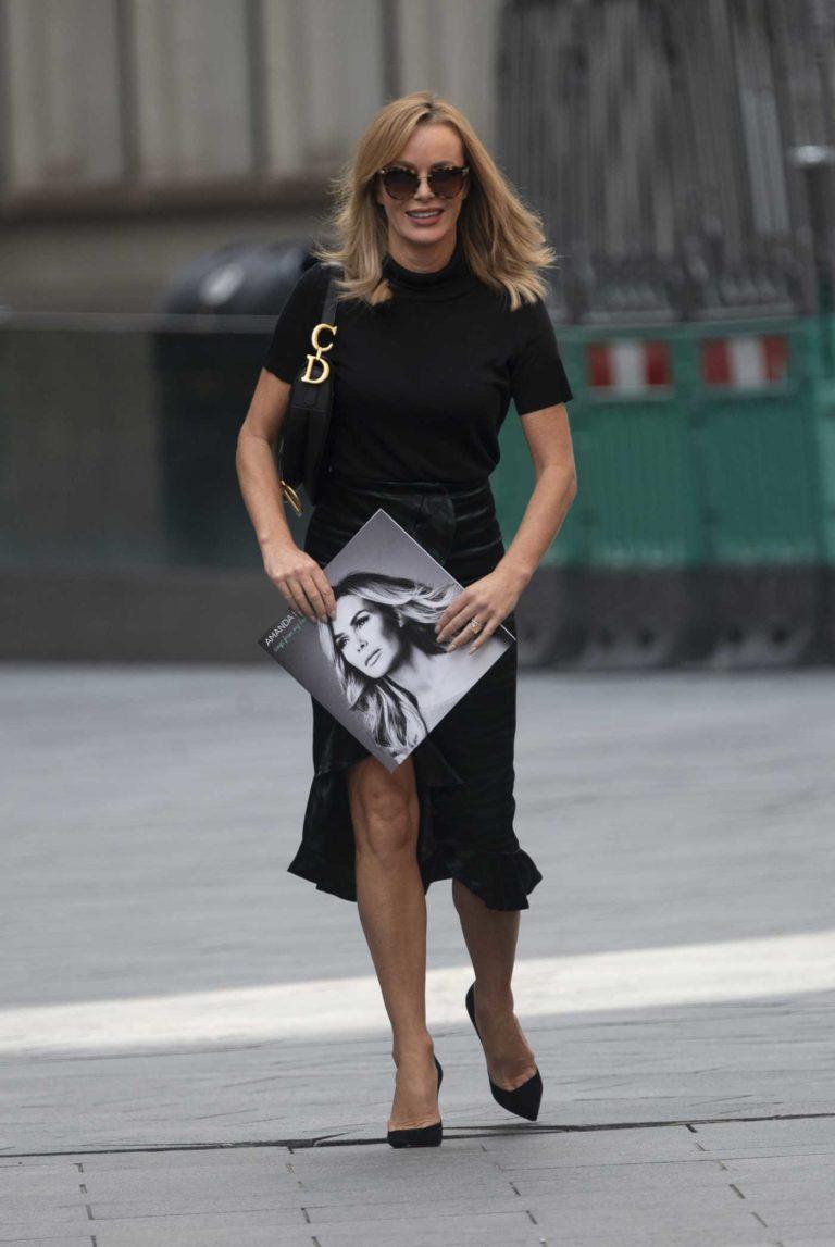 Amanda Holden in a Black Skirt