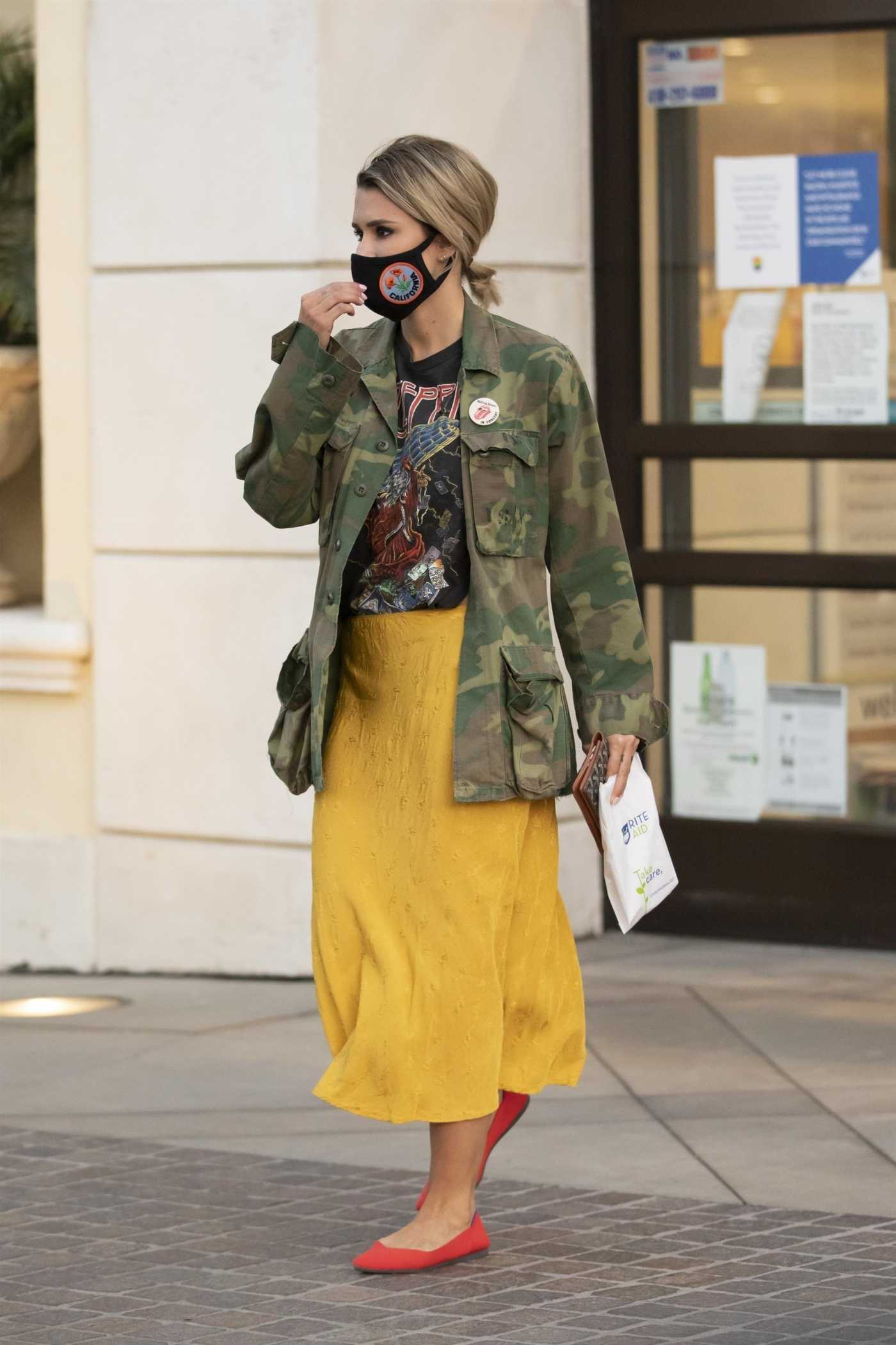 Brittany Furlan in a Camo Jacket Does a Bike Ride in Los Angeles 09/27/2020