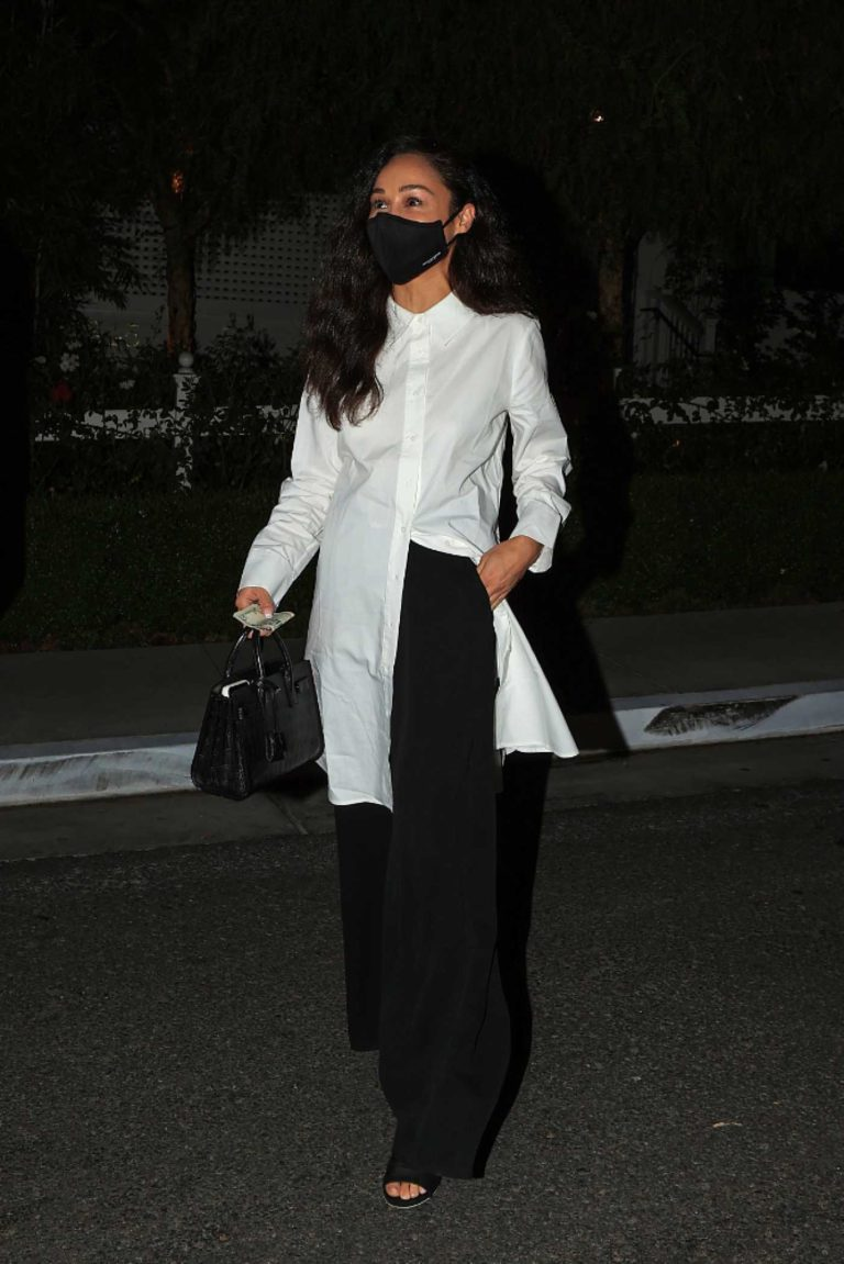 Cara Santana in a Black Protective Mask