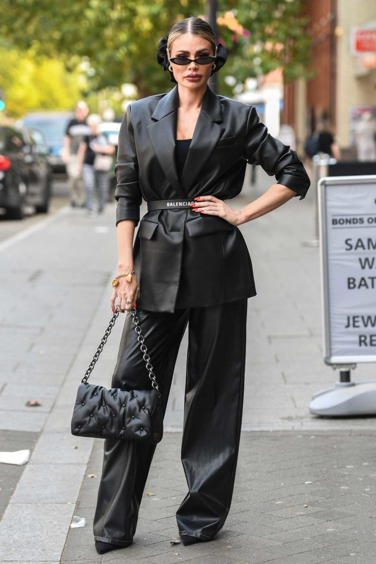 Chloe Sims in a Black Blazer