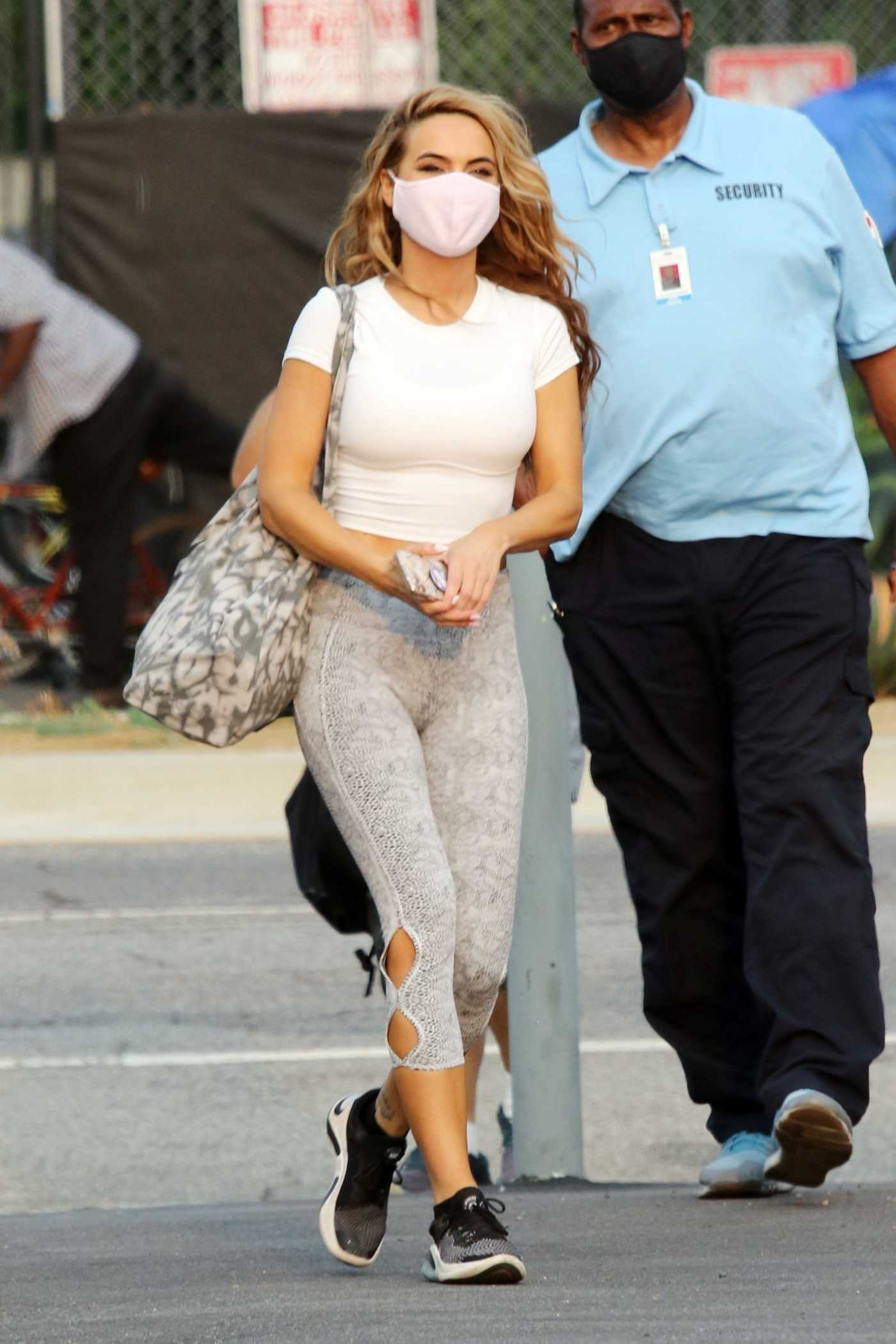 Chrishell Stause in a Protective Mask Exits the DWTS Studio in Los Angeles 09/09/2020