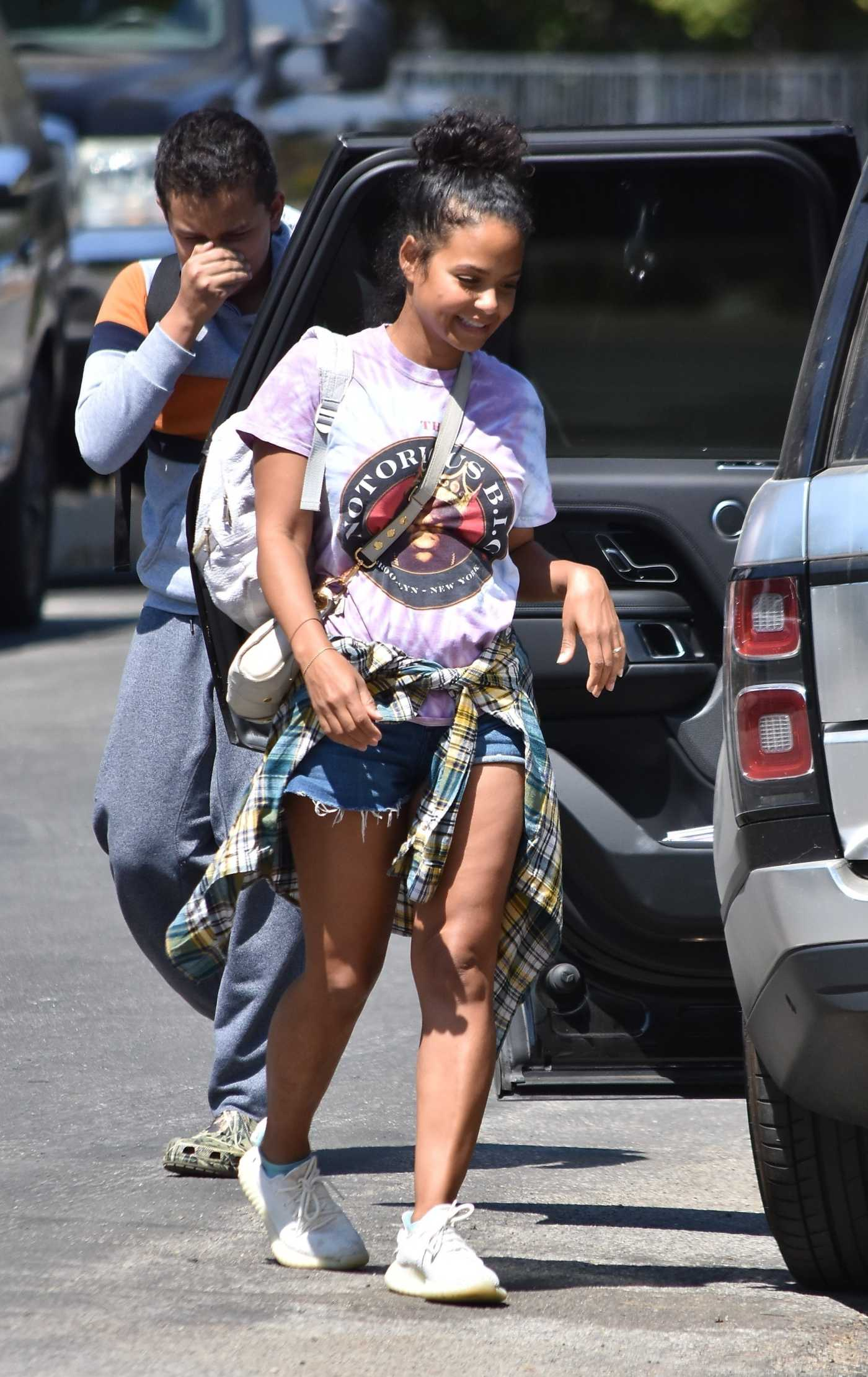 Christina Milian in a White Sneakers Was Seen Out in Studio City 09/05/2020
