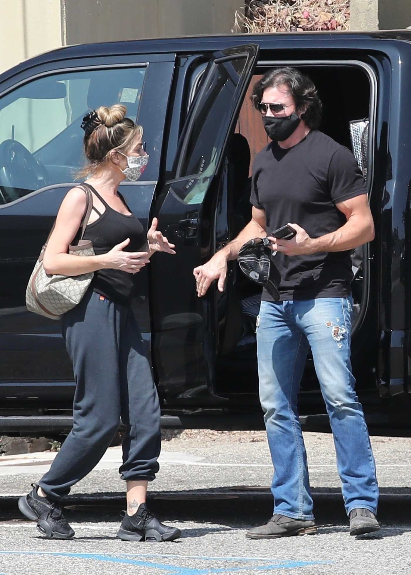 Denise Richards in a Black Sneakers Was Seen Out with Aaron Phypers in Malibu 09/23/2020