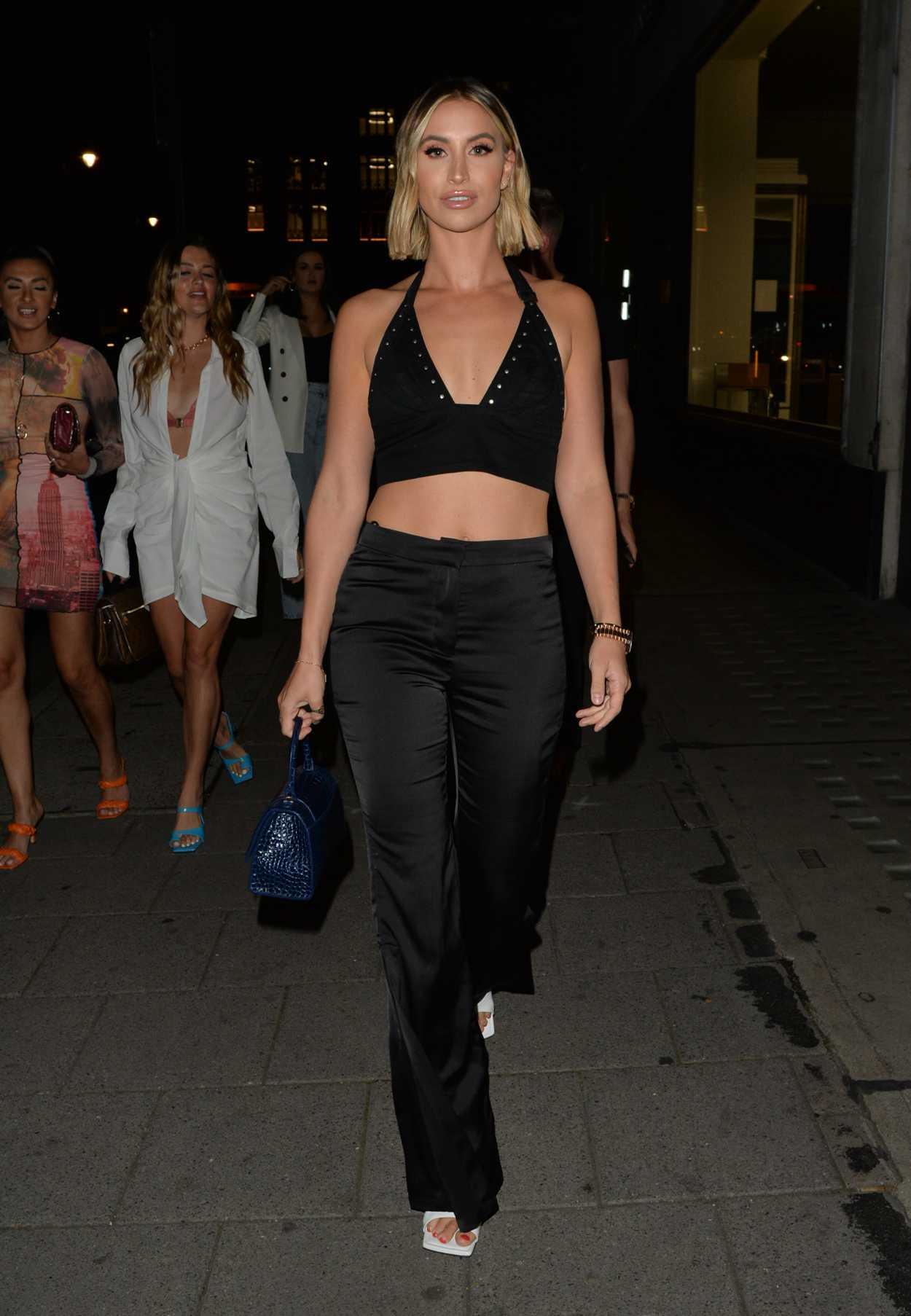 Ferne McCann in a Black Top Was Seen Out in London 09/05/2020