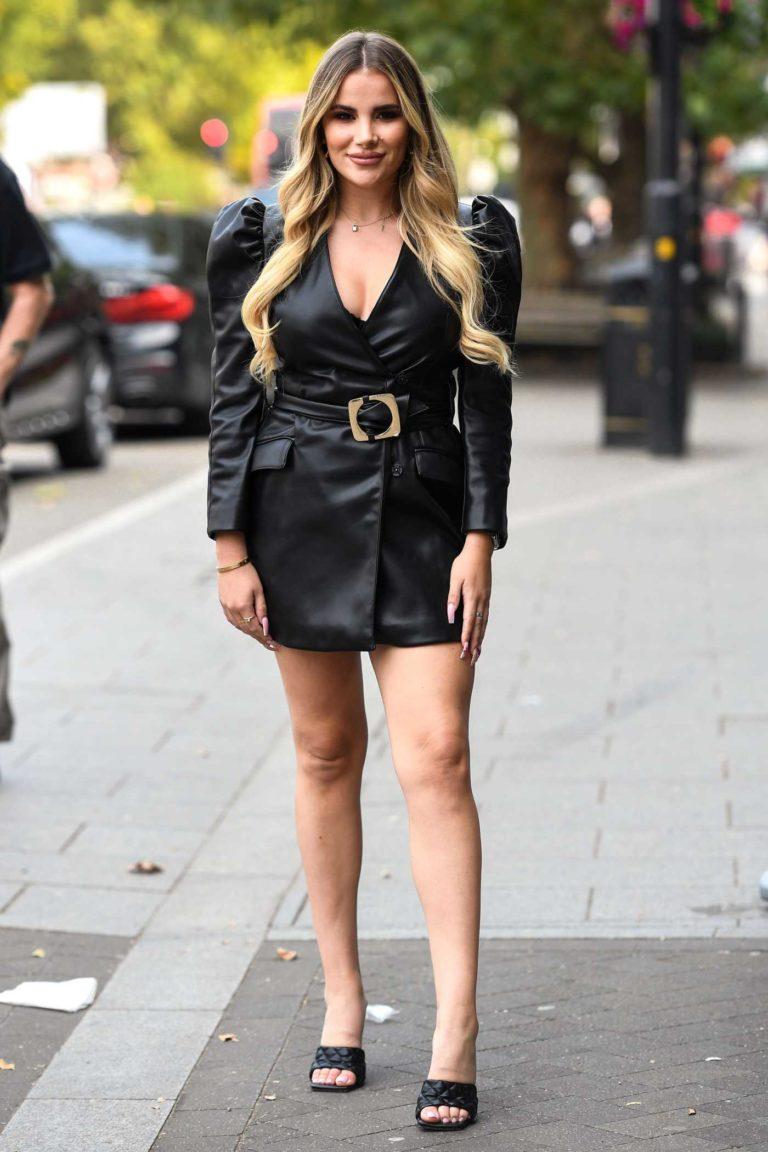 Georgia Kousoulou in a Black Dress