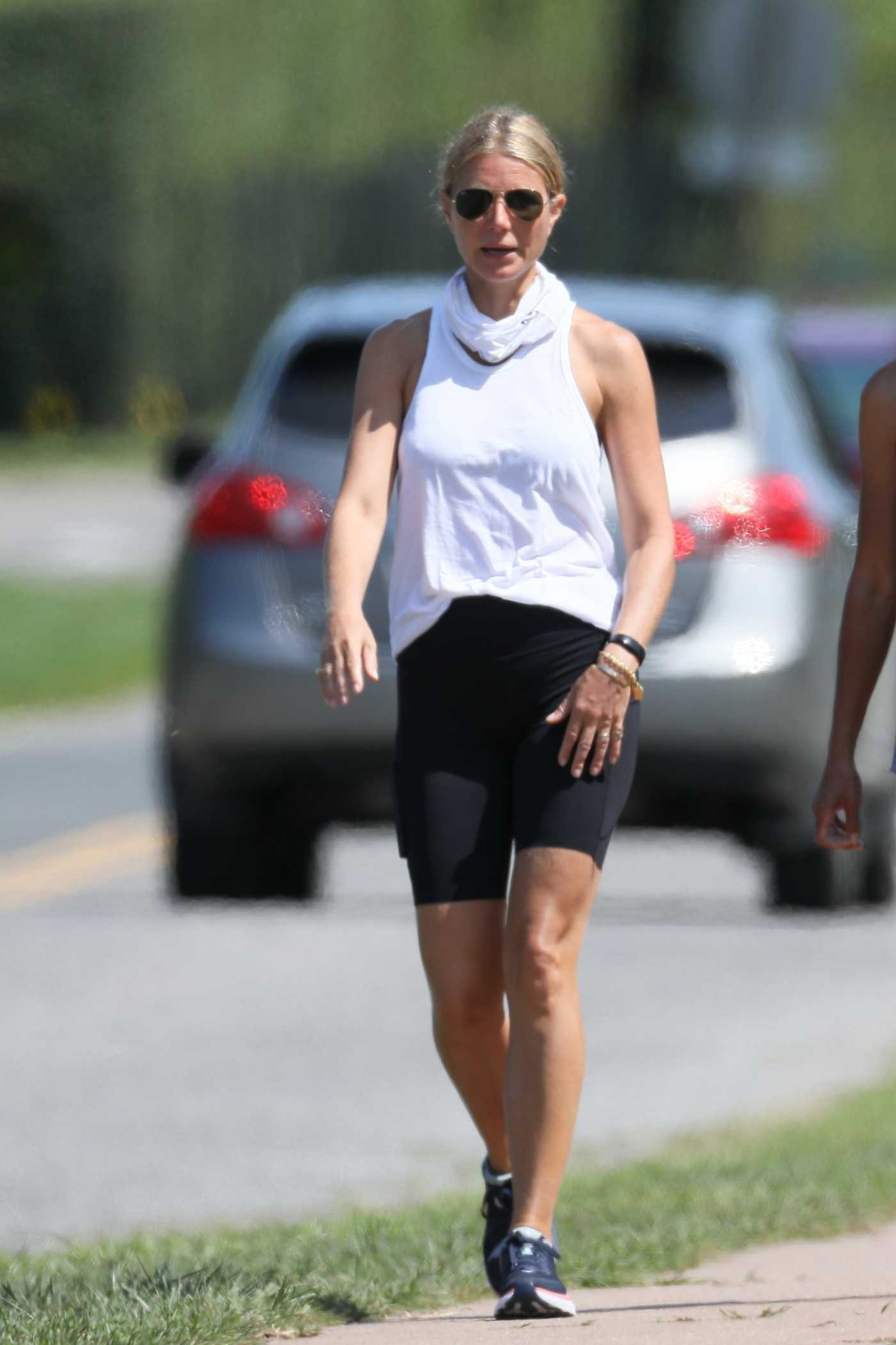 Gwyneth Paltrow in a White Tank Top Was Seen Out in the Hamptons, NYC 09/07/2020