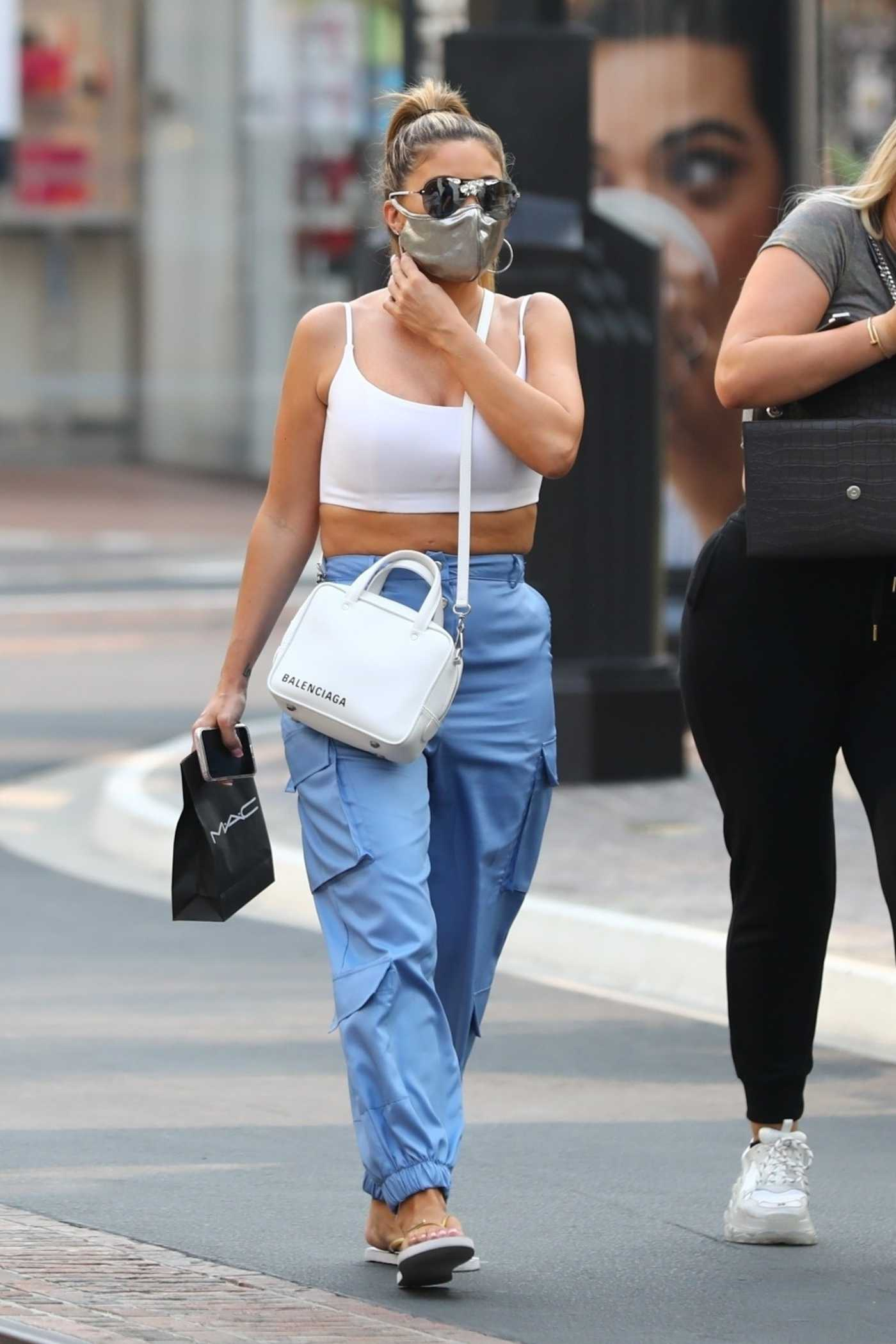 Larsa Pippen in a Blue Pants Shops at The Grove in Los Angeles 09/15/2020