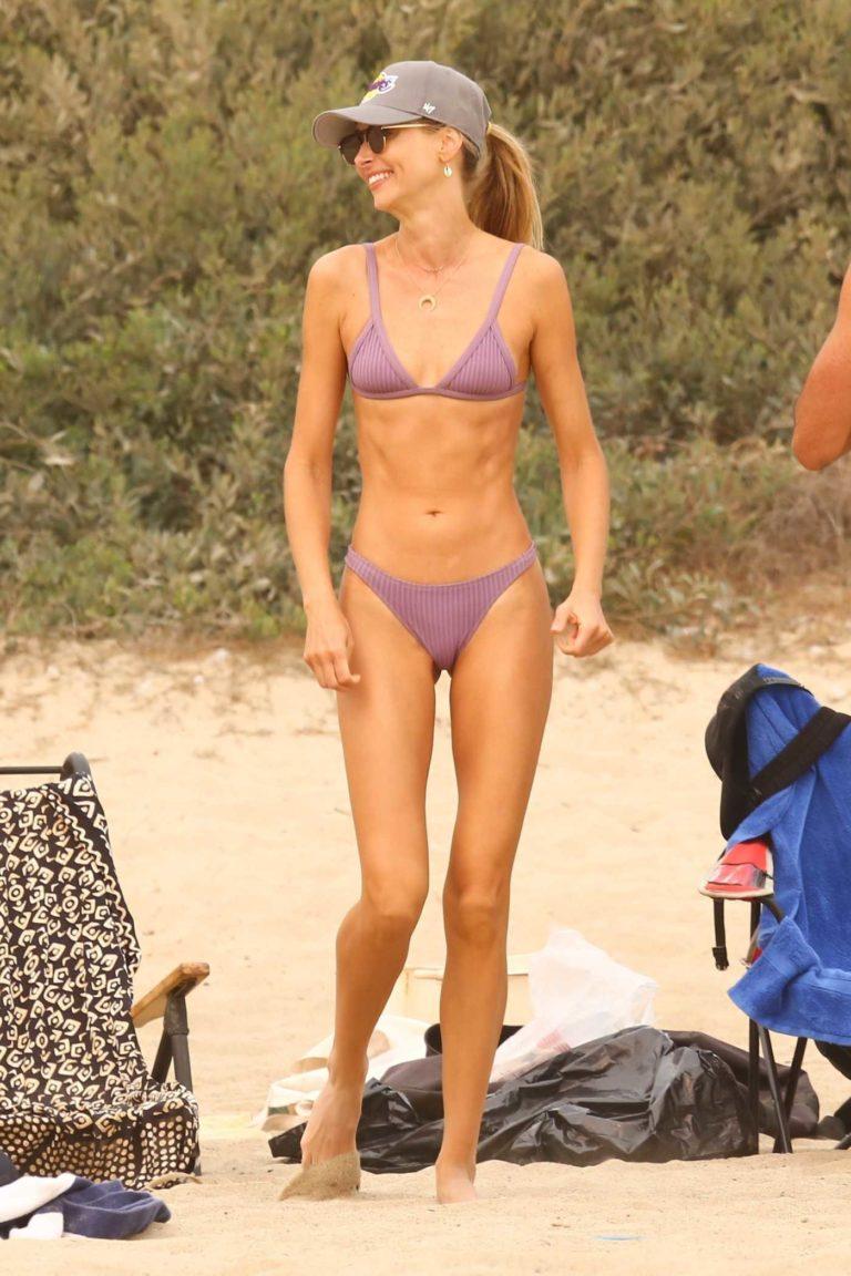 Ludi Delfino in a Purple Bikini