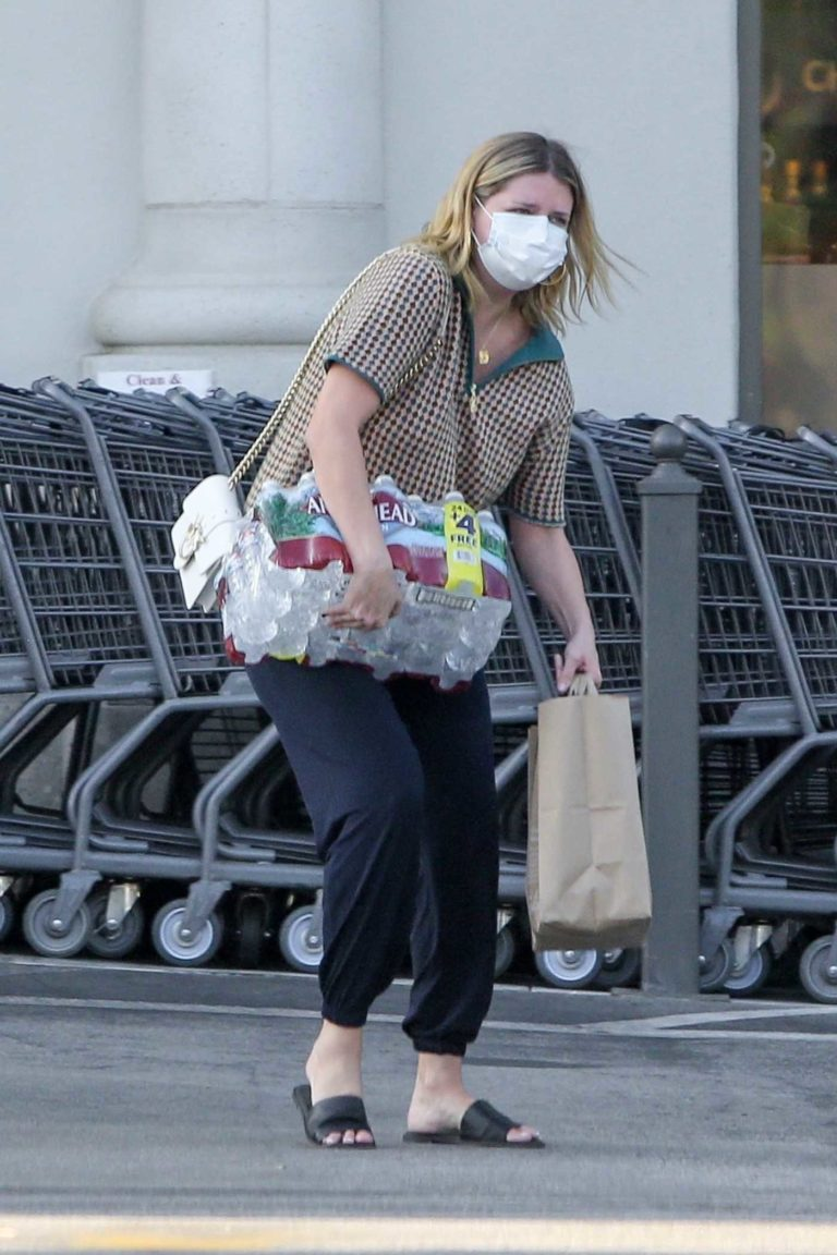 Mischa Barton in a Protective Mask
