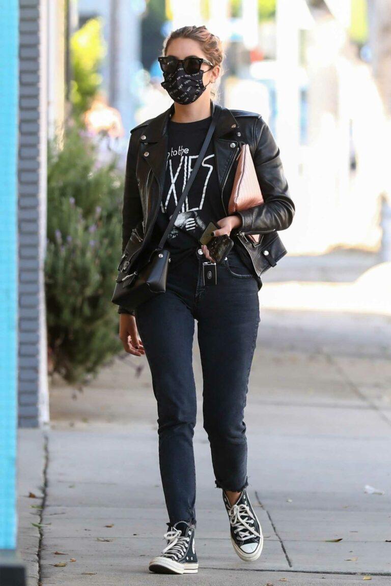 Ashley Benson in a Black Jacket