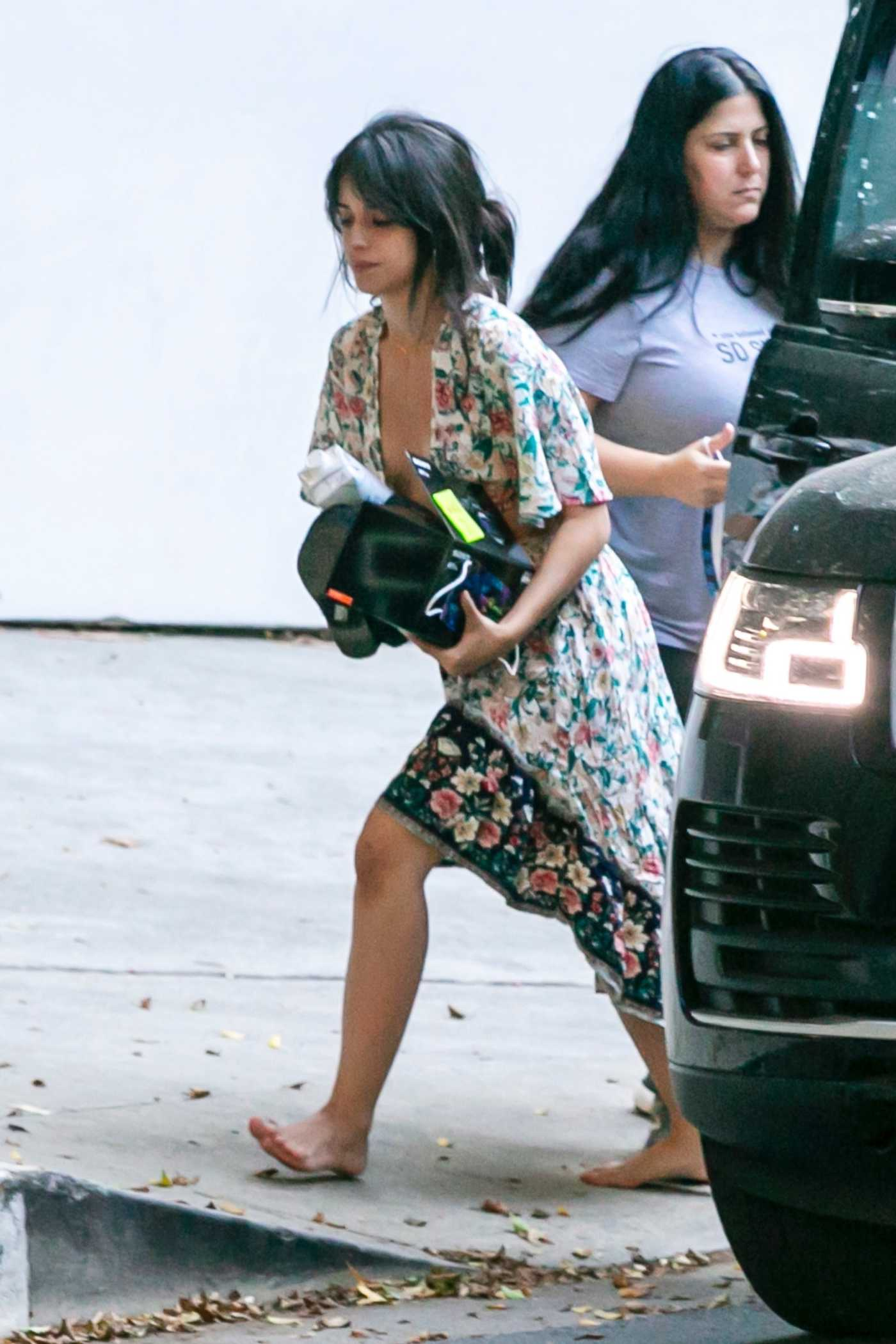 Camila Cabello in a Floral Dress Was Seen Out in Los Angeles 10/14/2020