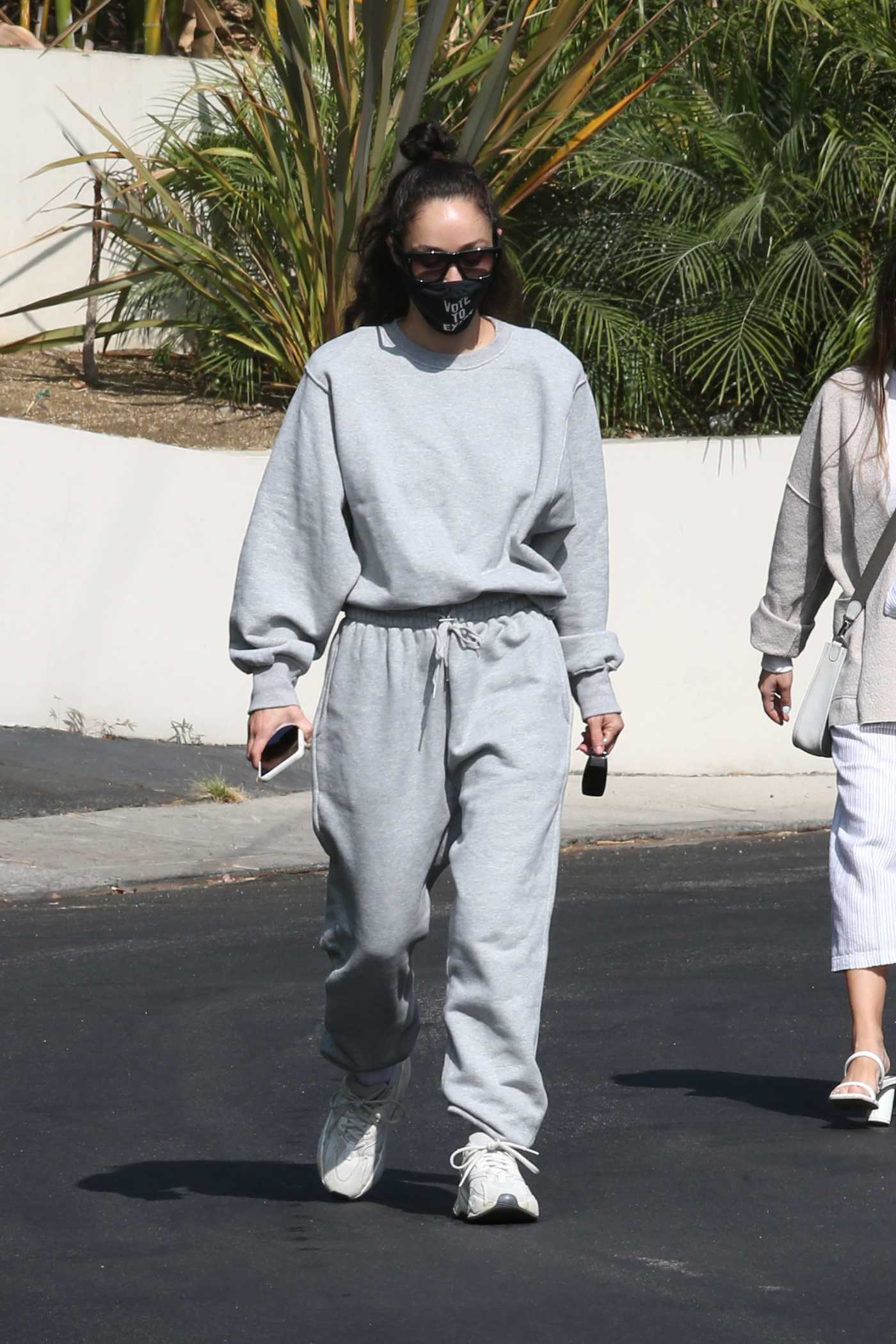 Cara Santana in a Grey Sweatsuit Was Seen Out  in Los Angeles 10/20/2020