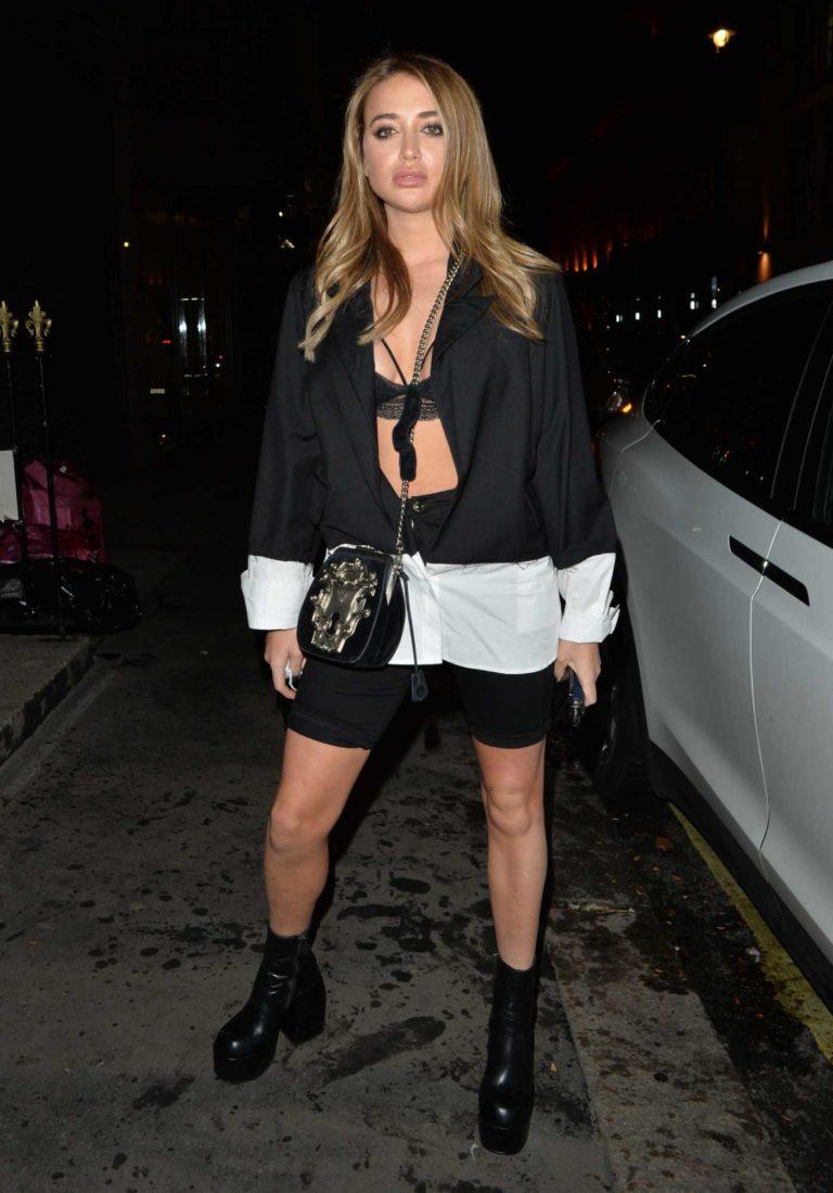 Georgia Harrison in a Black Spandex Shorts