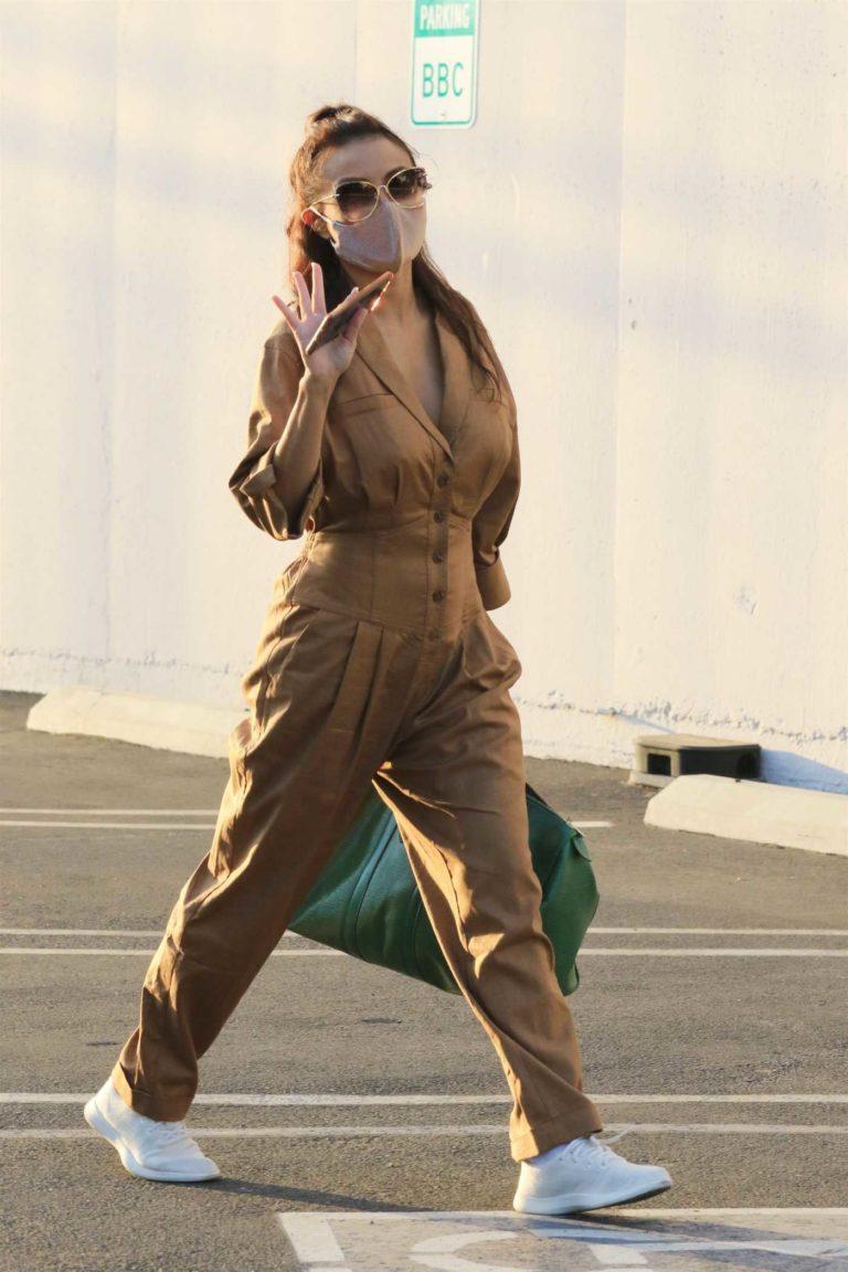 Jeannie Mai in a Tan Jumpsuit
