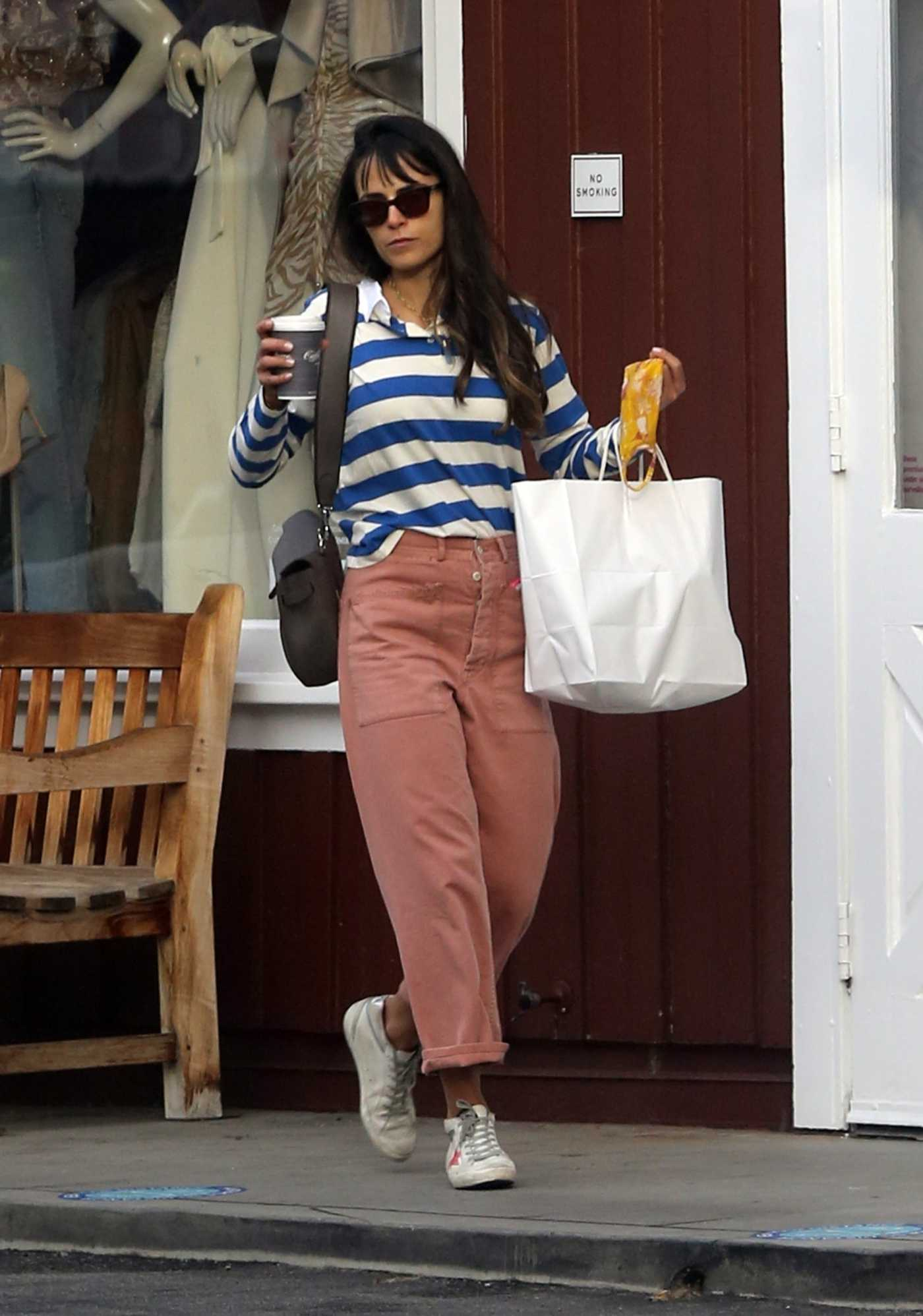 Jordana Brewster in a Pink Pants Was Seen Out in Brentwood 10/06/2020