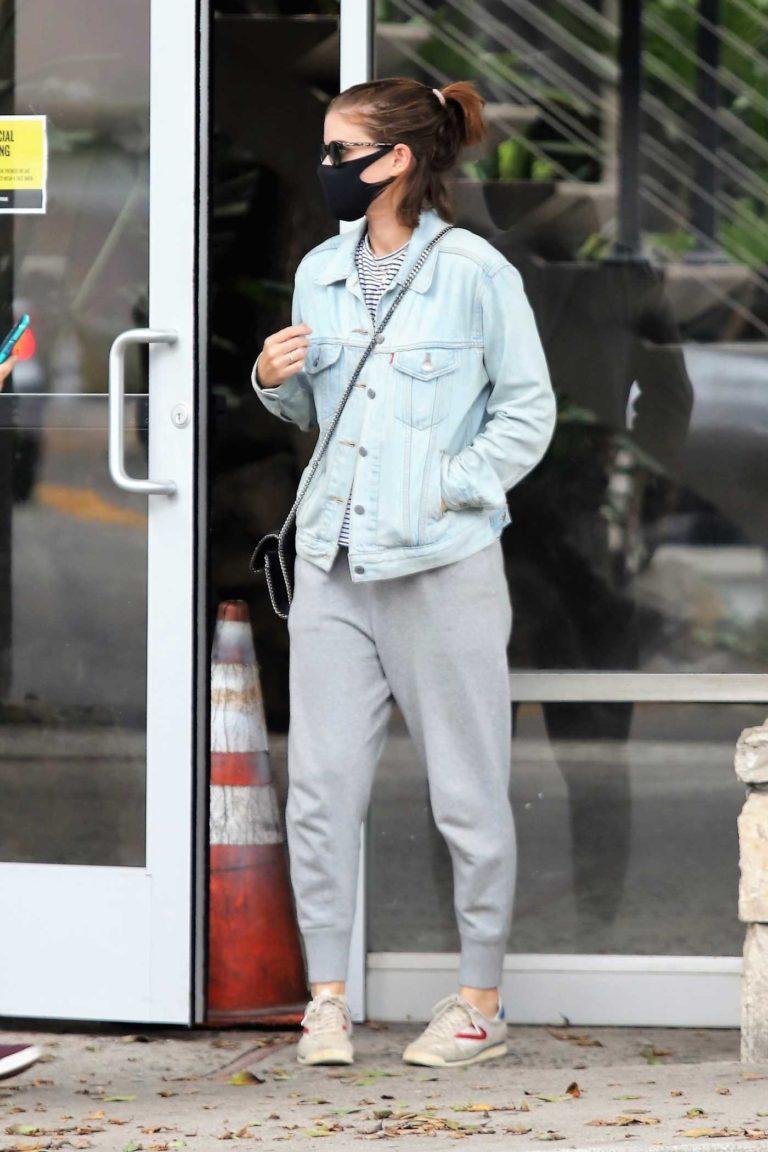 Kate Mara in a Light Blue Denim Jacket