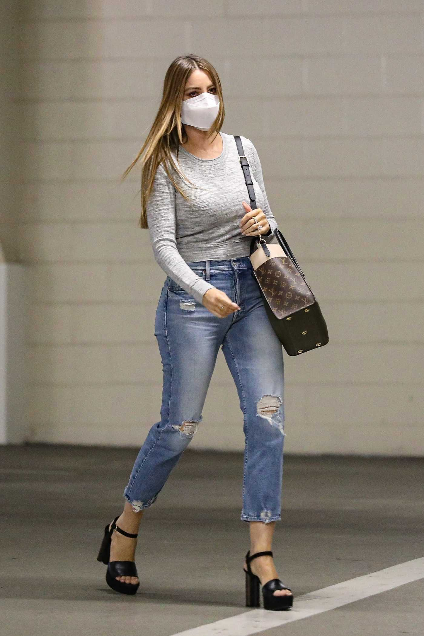 Sofia Vergara in a Protective Mask Arrives at a Business Meeting in Beverly Hills 10/26/2020