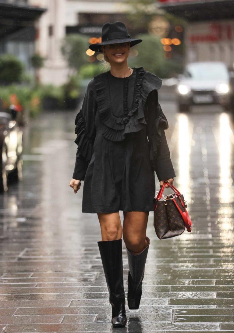 Vogue Williams in a Black Dress