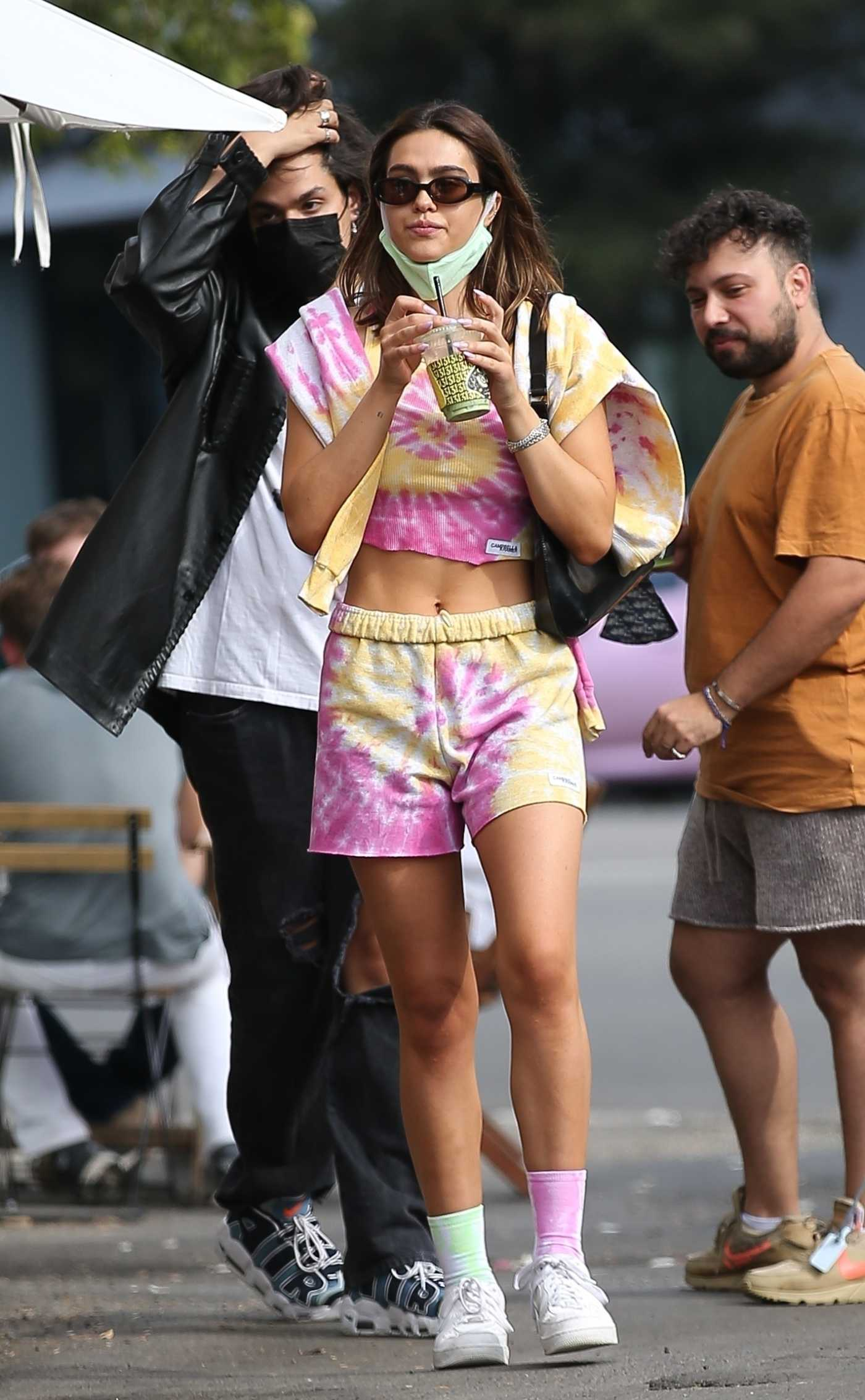 Amelia Hamlin in a Colorful Tie-Dye Outfit Was Seen Out in West Hollywood 10/31/2020