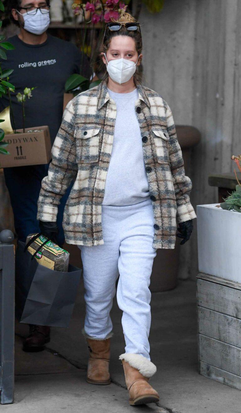 Ashley Tisdale in a Plaid Shirt