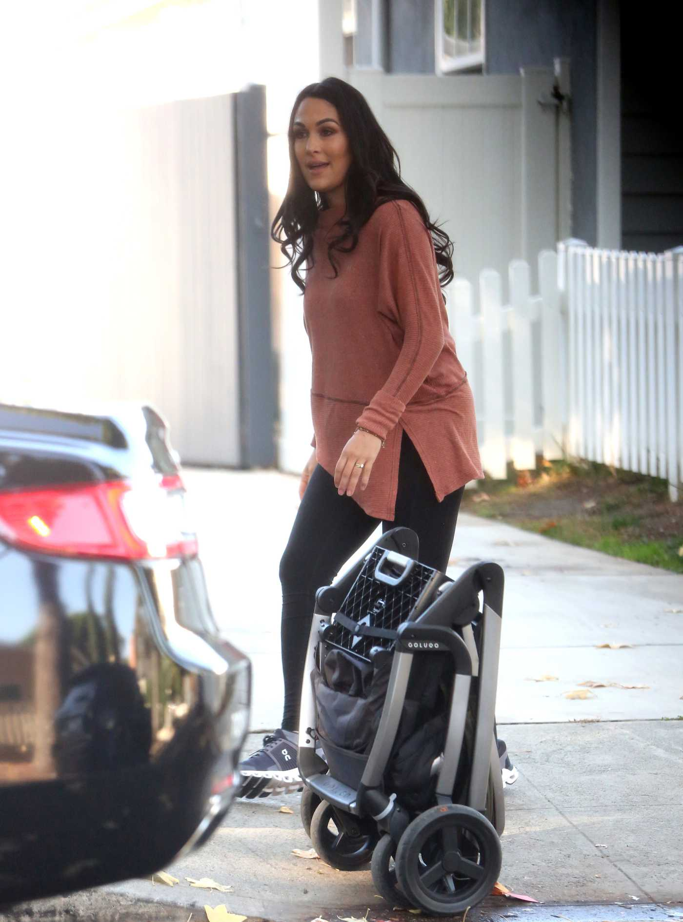 Brie Bella in a Black Sneakers Was Seen Out in Los Angeles 11/13/2020