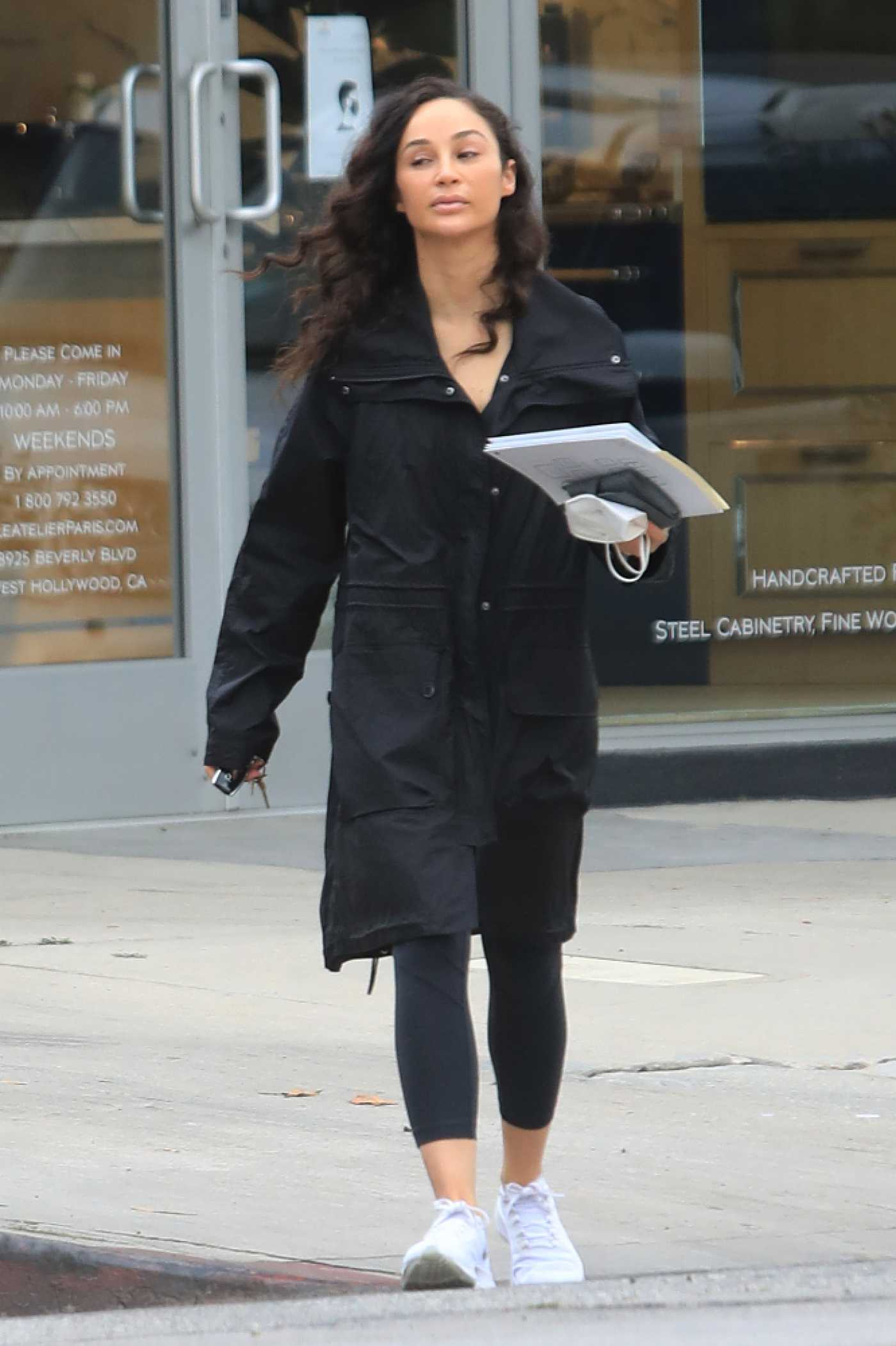 Cara Santana in a Black Trench Coat Was Seen Out in West Hollywood 11/05/2020