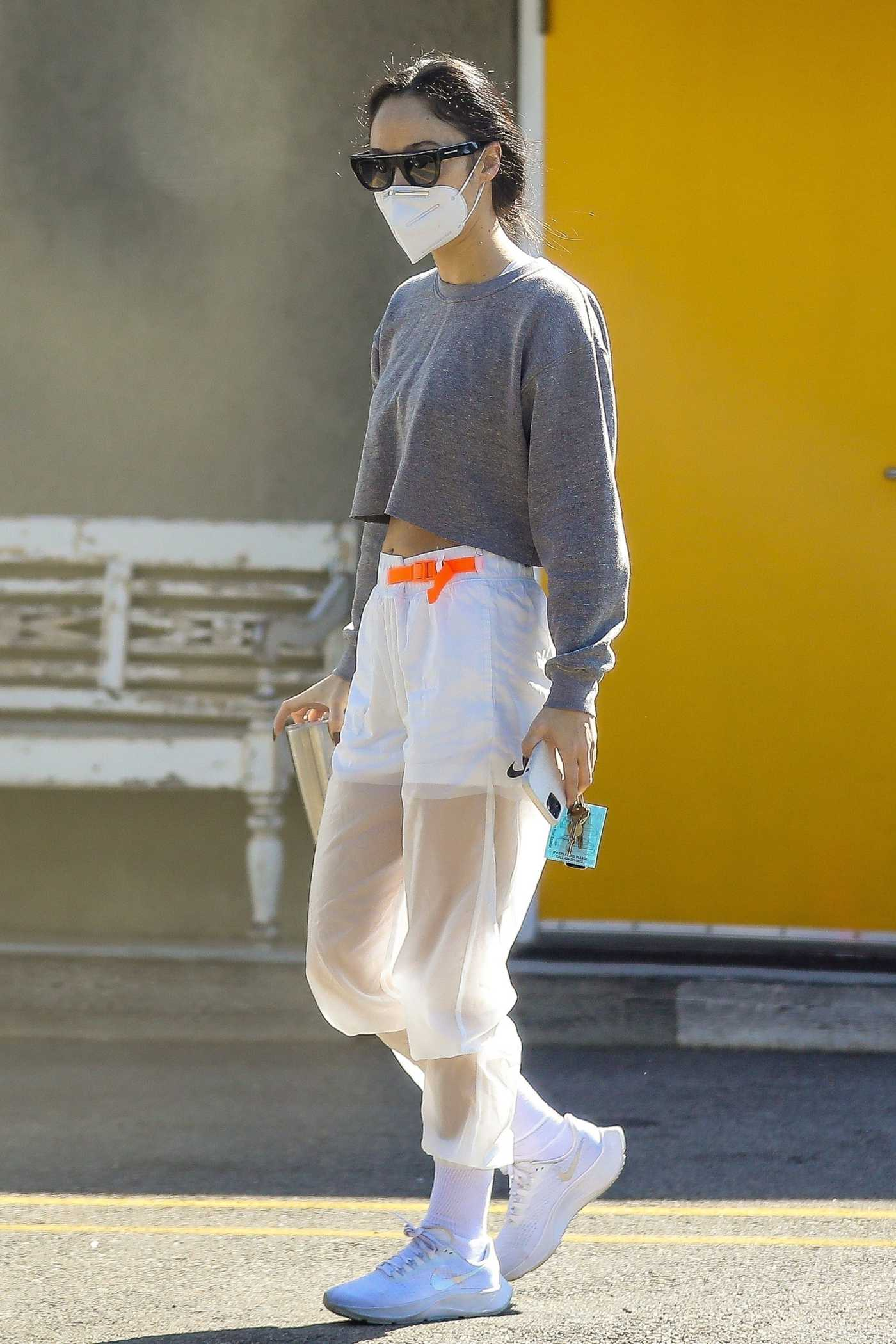 Cara Santana in a White Sneakers Leaves the Gym in West Hollywood 11/11/2020