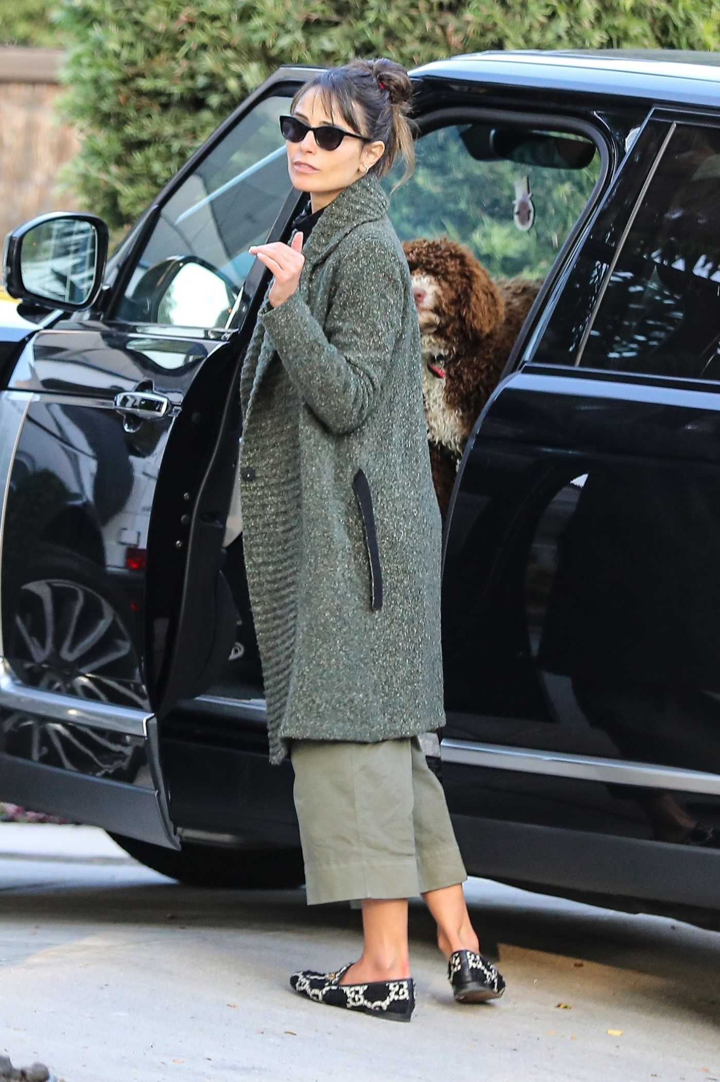 Jordana Brewster in a Green Cardigan Was Seen Out in West Hollywood 11/23/2020