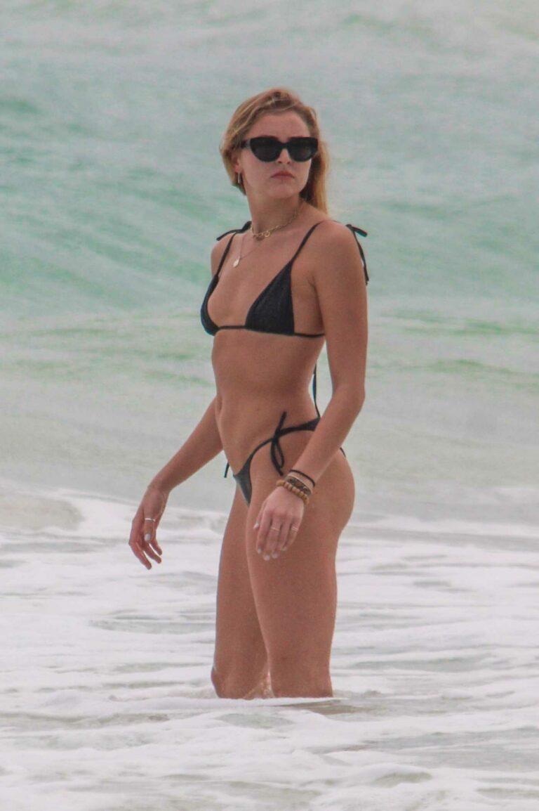 Rachel Hilbert in a Black Bikini