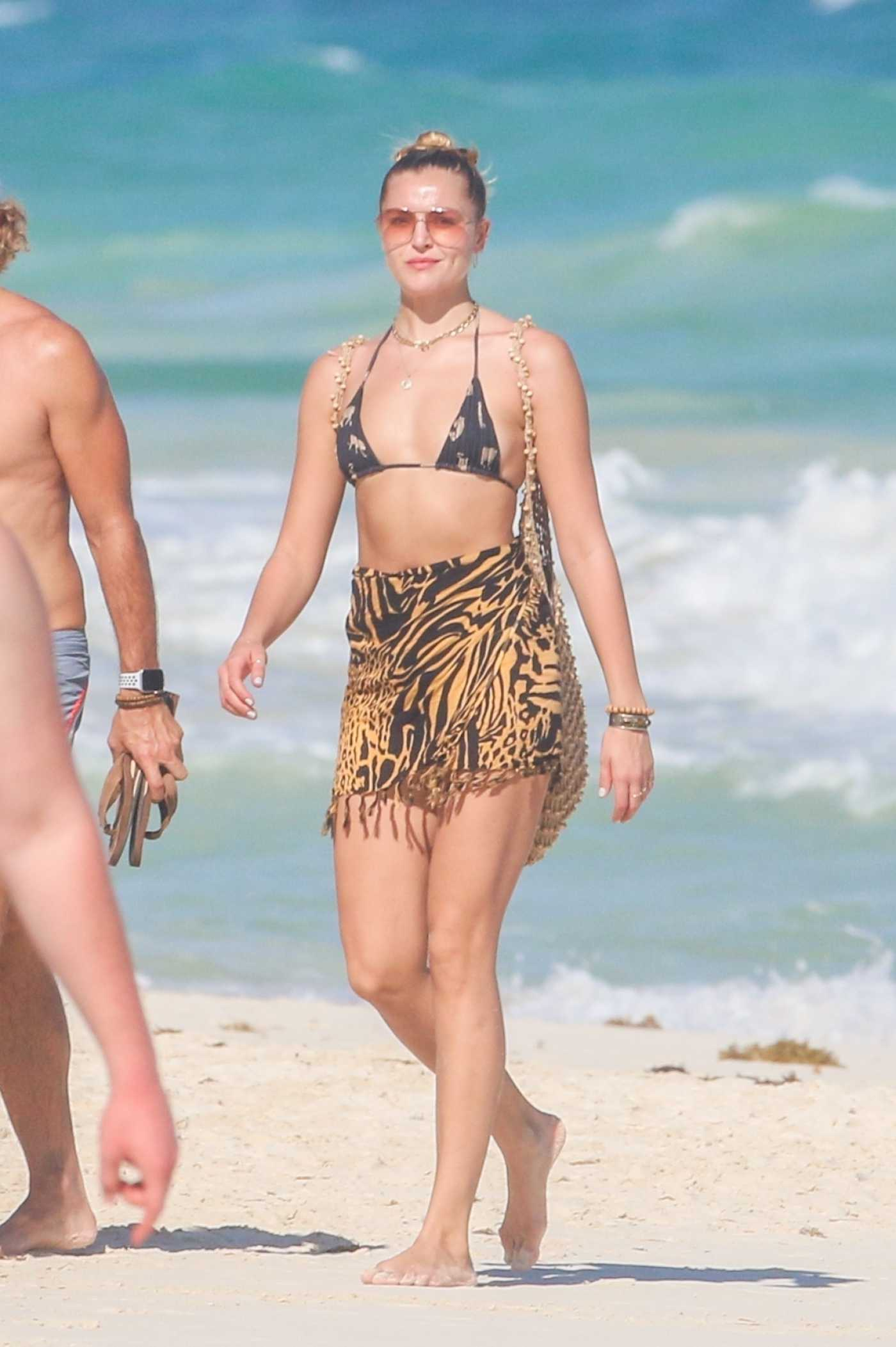 Rachel Hilbert in Bikini on the Beach in Tulum 11/26/2020