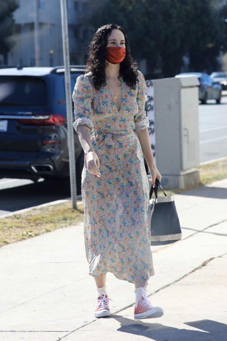 Rumer Willis in a Floral Dress
