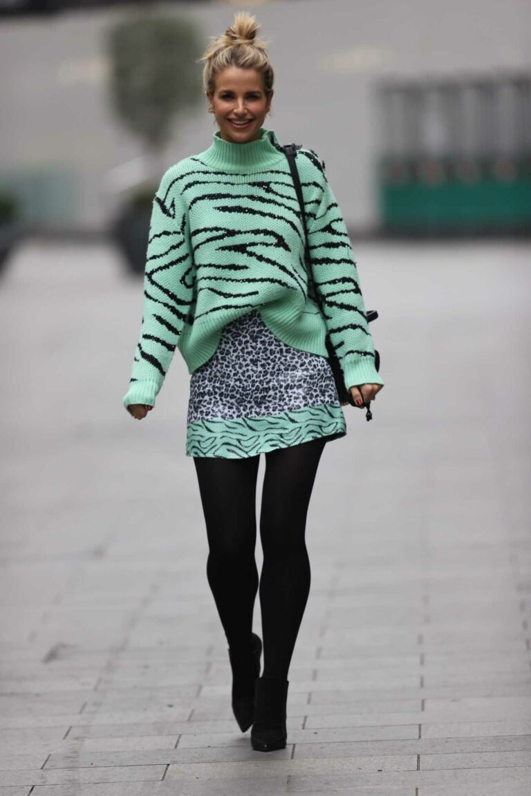 Vogue Williams in a Green Sweater