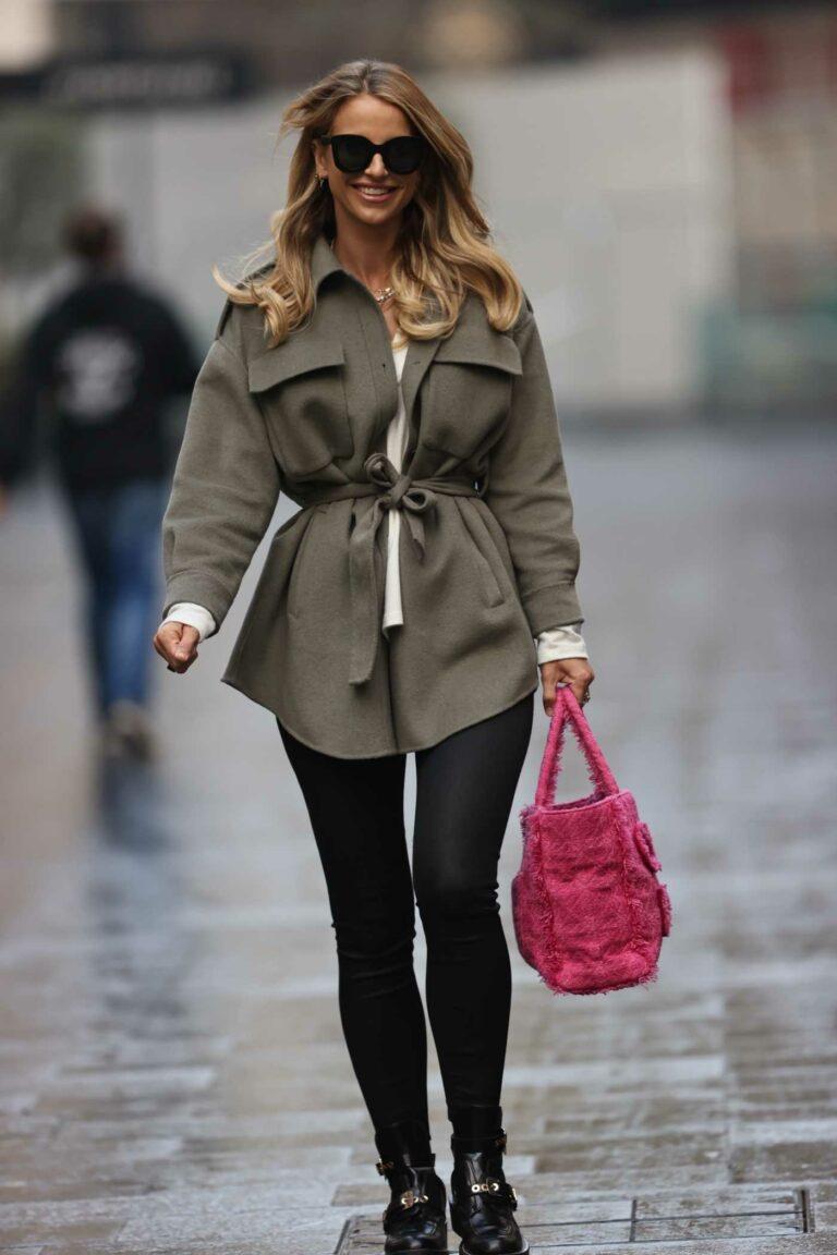 Vogue Williams in a Khaki Jacket