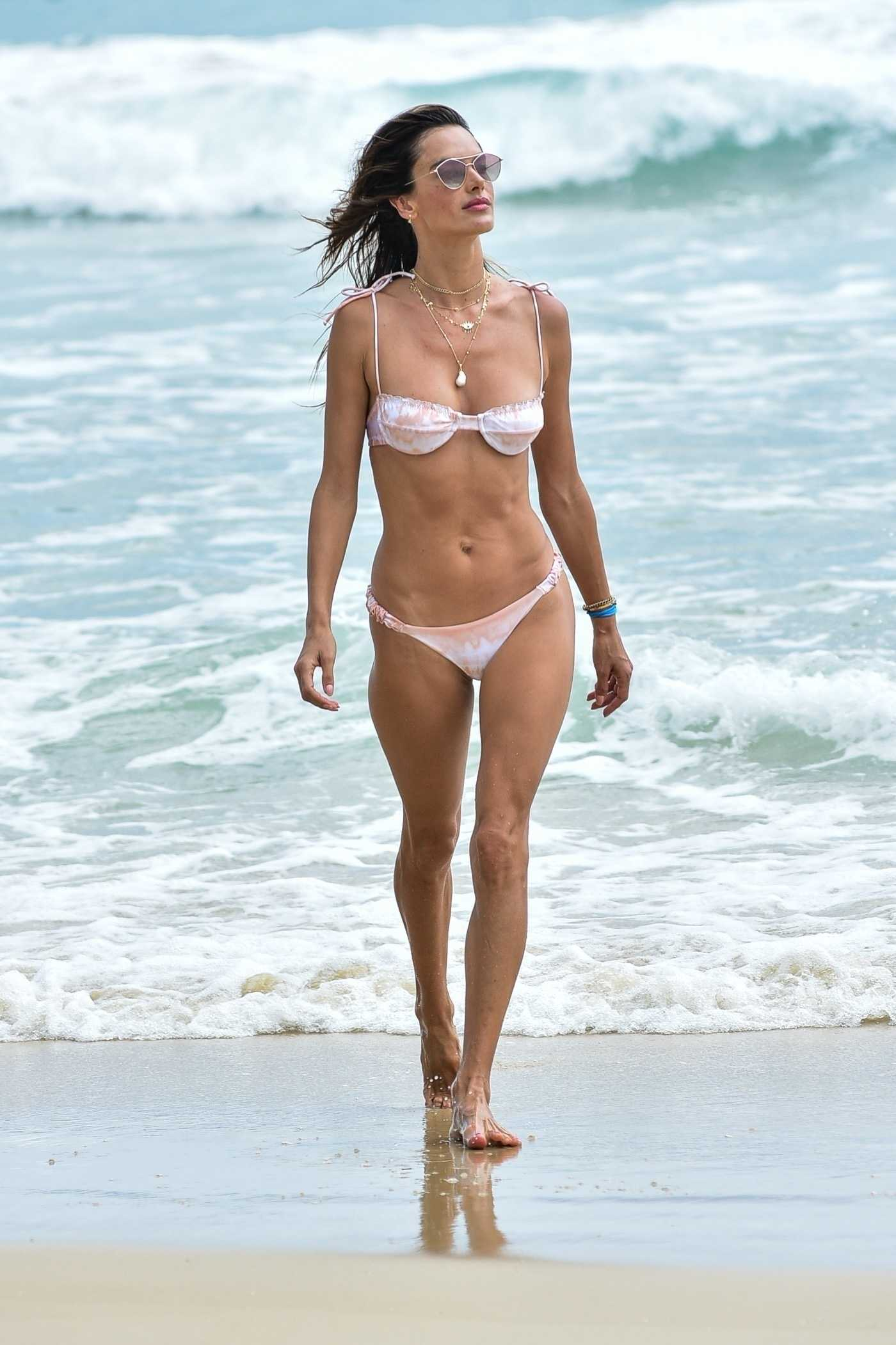 Alessandra Ambrosio in Bikini on the Beach in Florianopolis 12/15/2020
