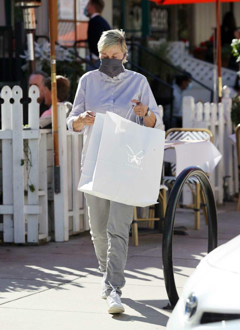 Ellen DeGeneres in a White Sneakers
