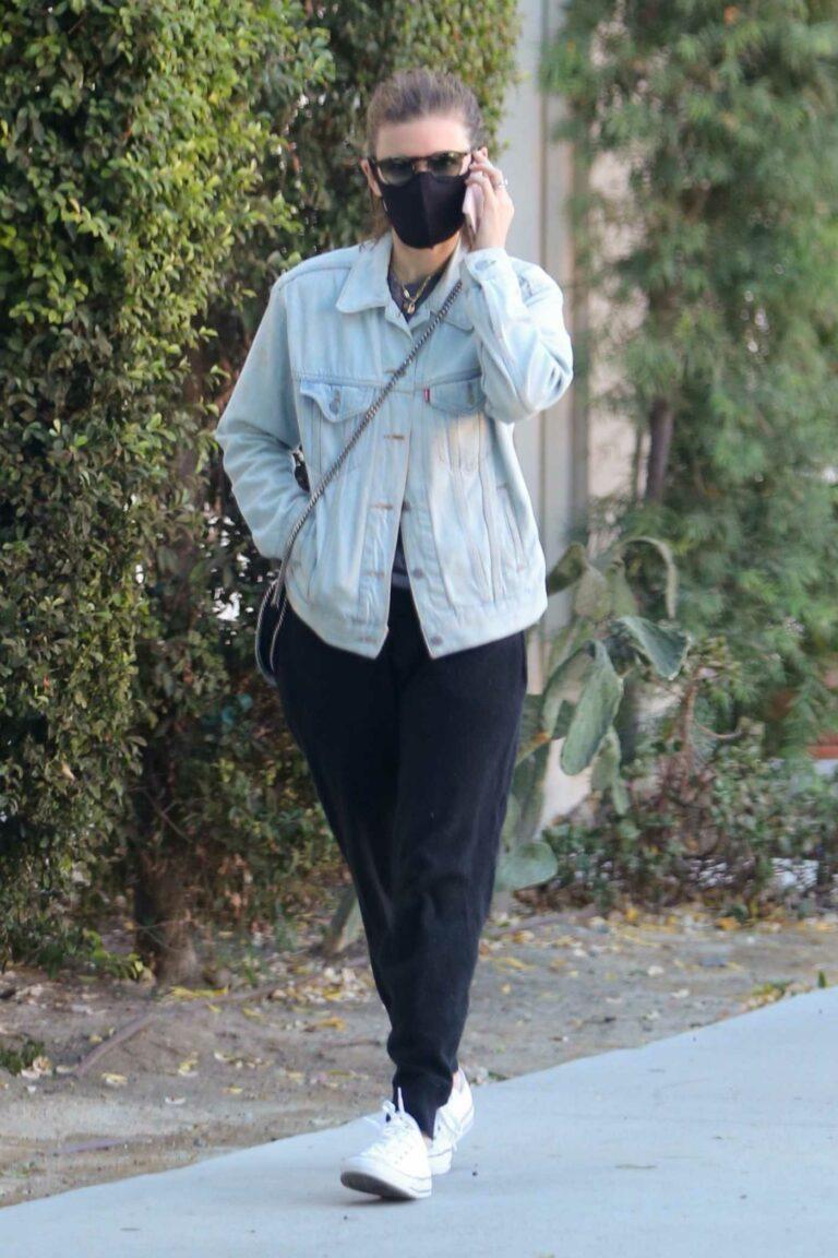 Kate Mara in a Black Protective Mask