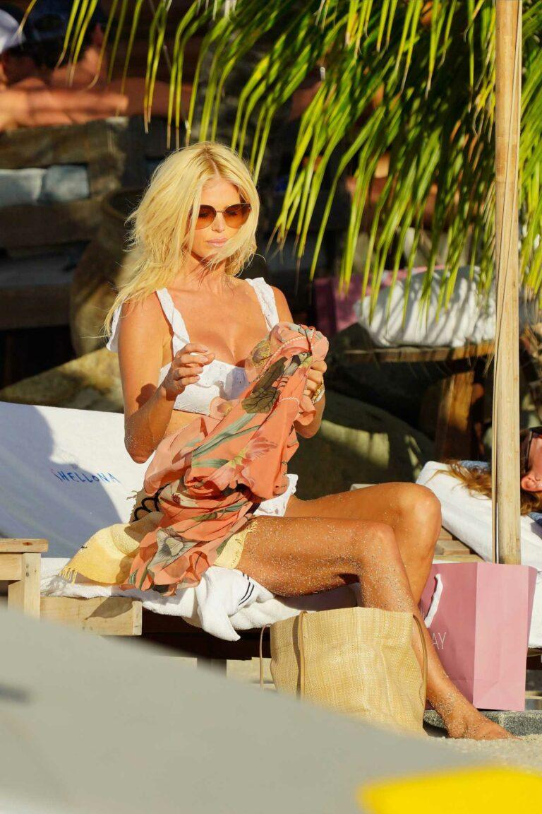 Victoria Silvstedt in a White Bikini