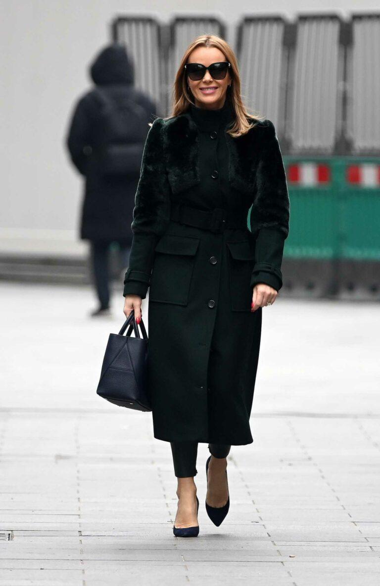 Amanda Holden in a Black Coat