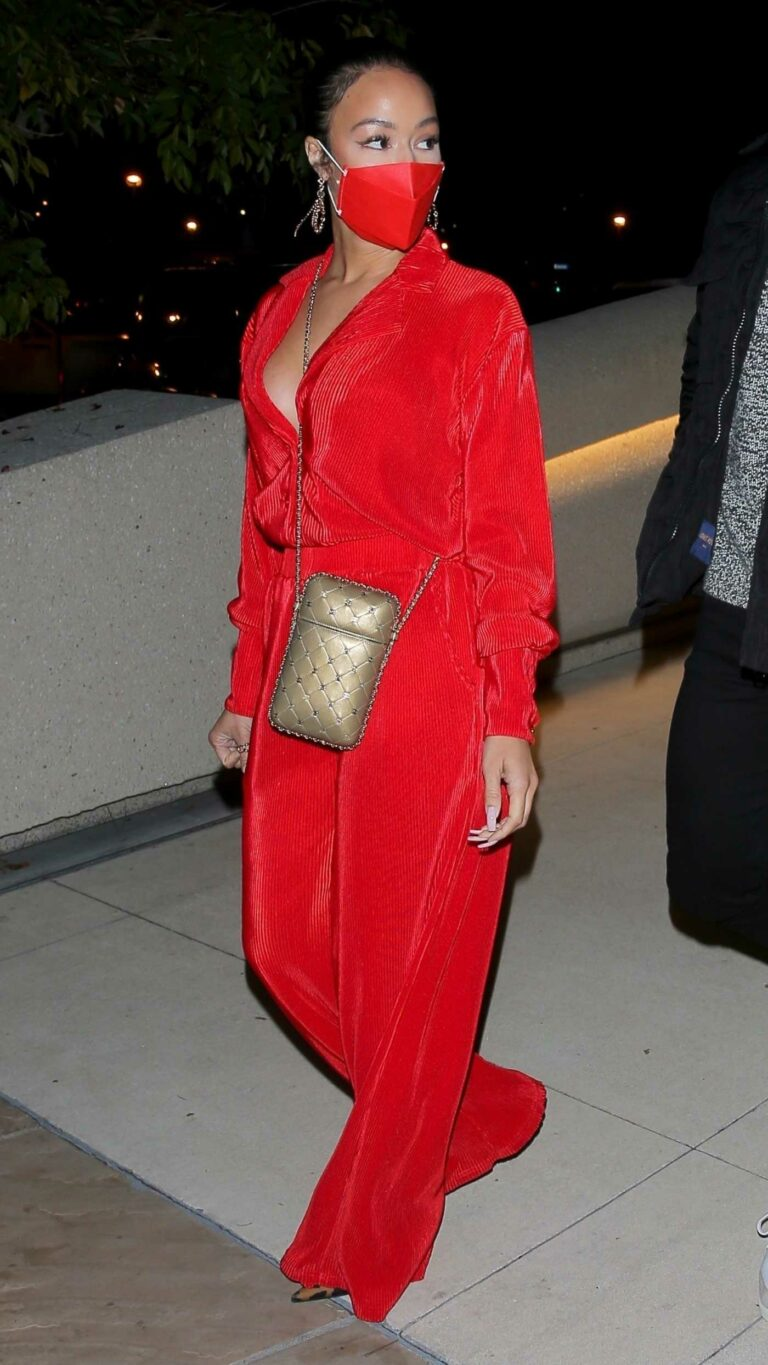 Draya Michele in a Red Outfit