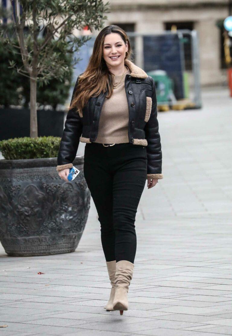 Kelly Brook in a Black Jacket