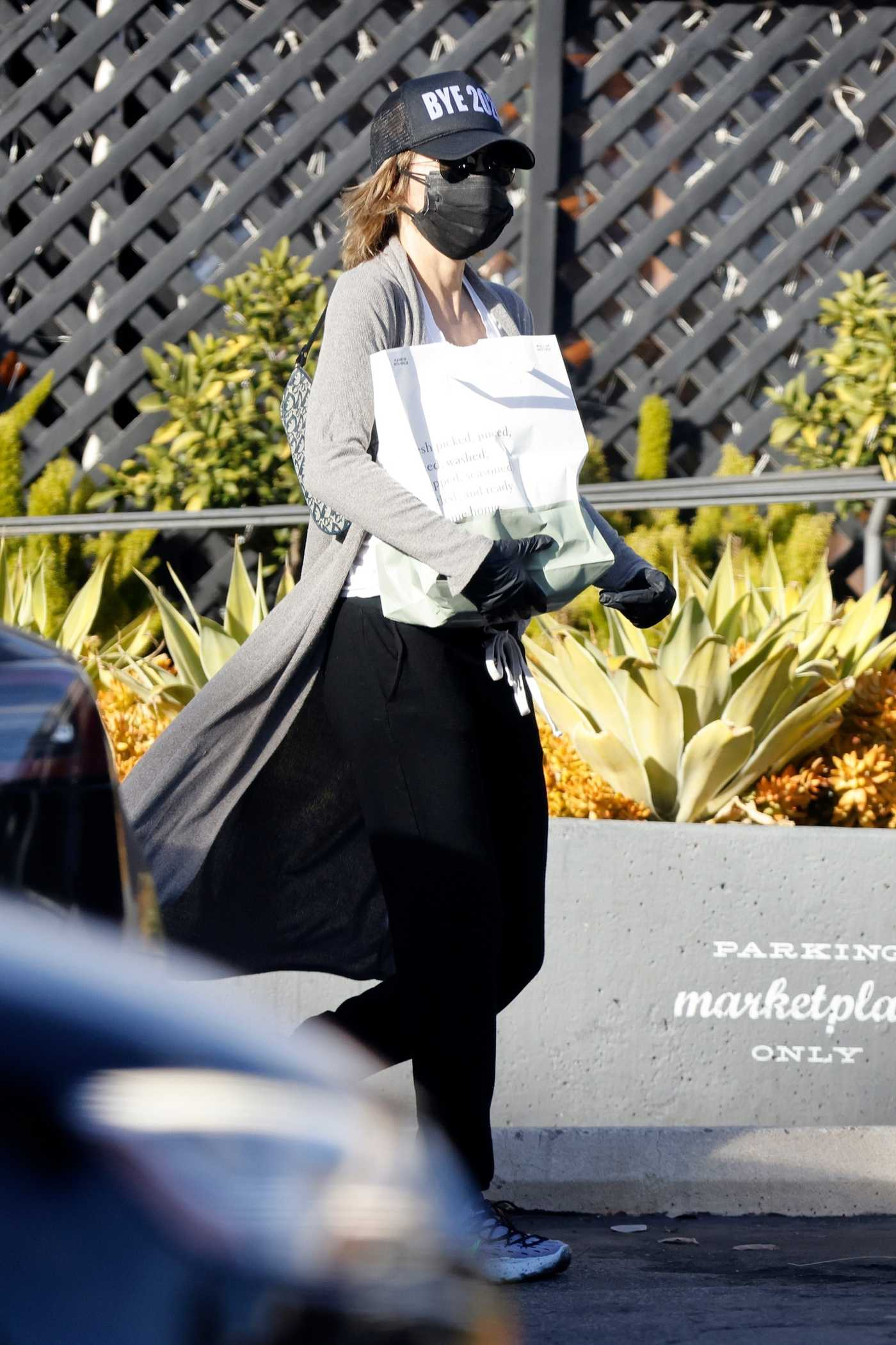 Lisa Rinna in a Black Cap Picks Up Some Food at the Glen Market in Bel Air 12/30/2020