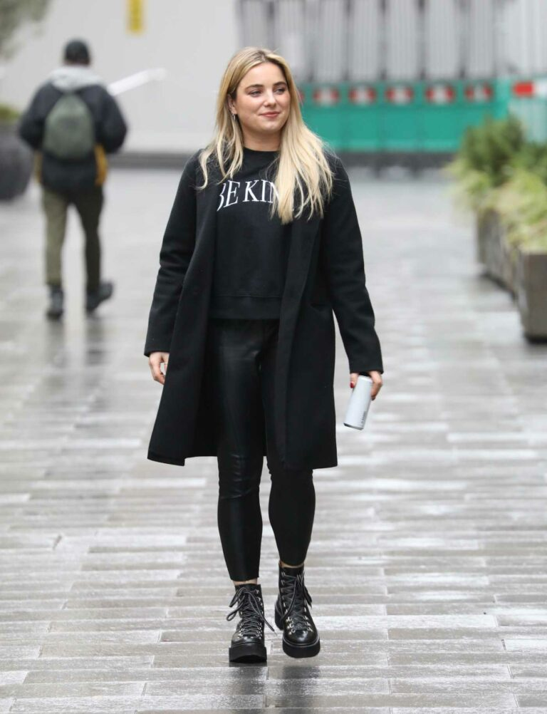 Sian Welby in a Black Outfit