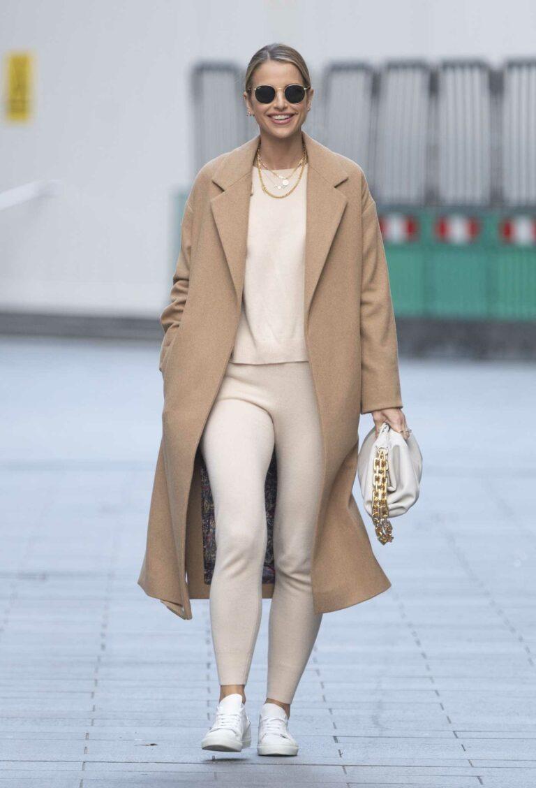 Vogue Williams in a Beige Coat
