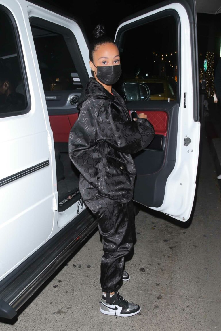 Draya Michele in a Black Sweatsuit